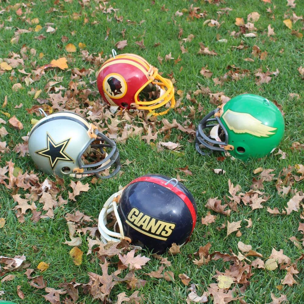 Vintage NFC East Division Football Helmets