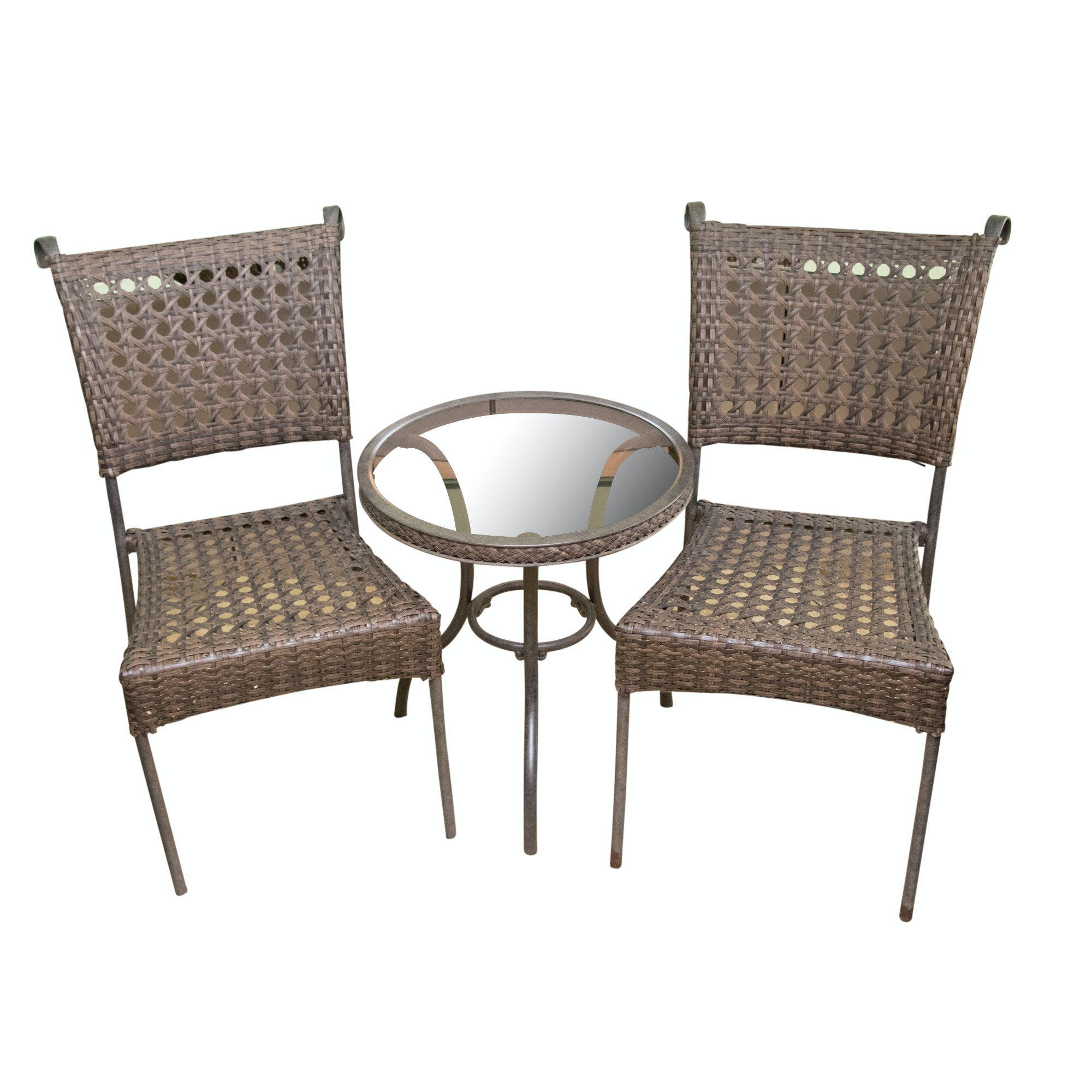 Contemporary Metal Table and Chairs