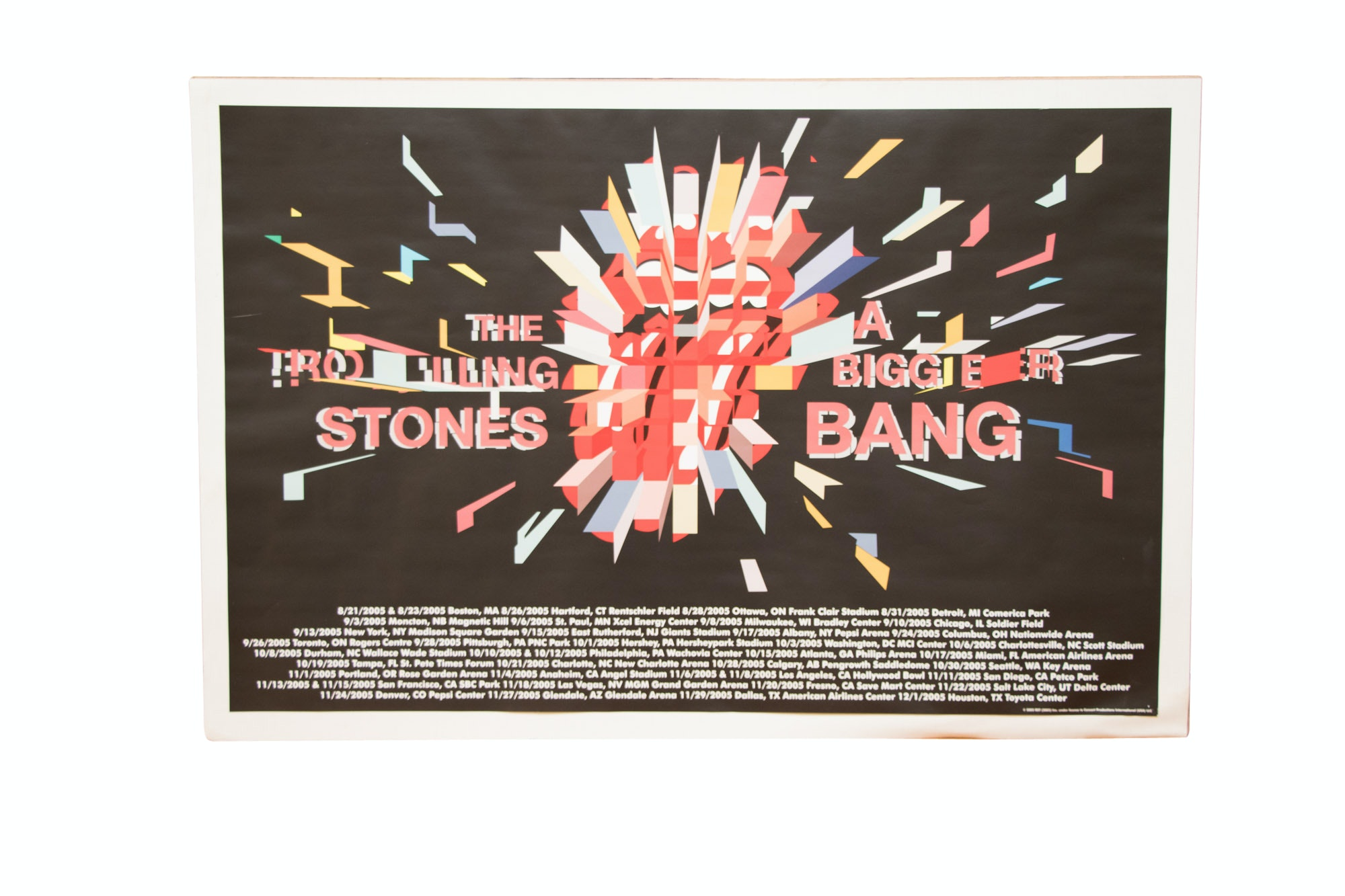 "Rolling Stones ""A Bigger Bang"" Tour Poster"