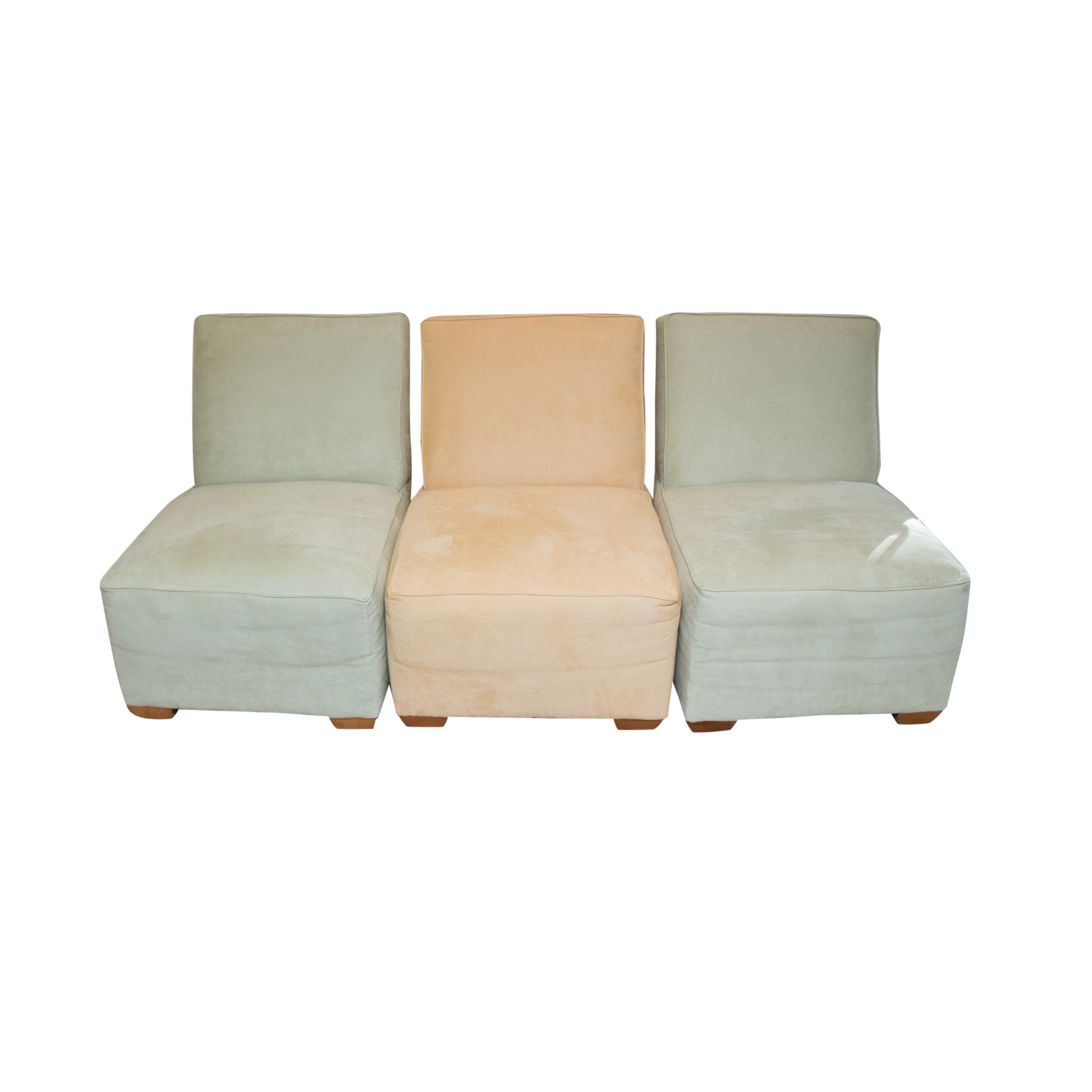 Group of Three Contemporary Slipper Chairs