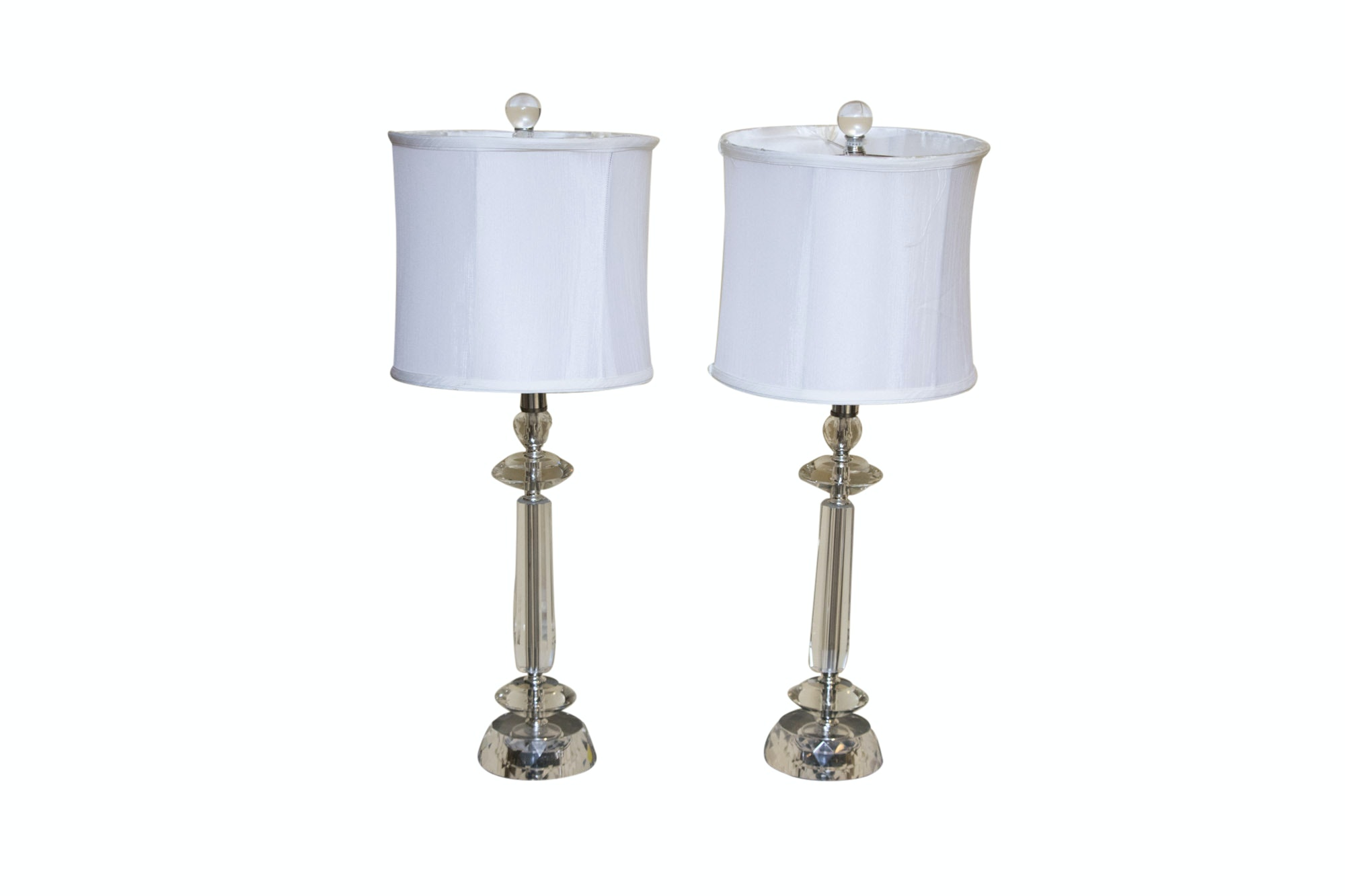 Contemporary Glass and Acrylic Table Lamps