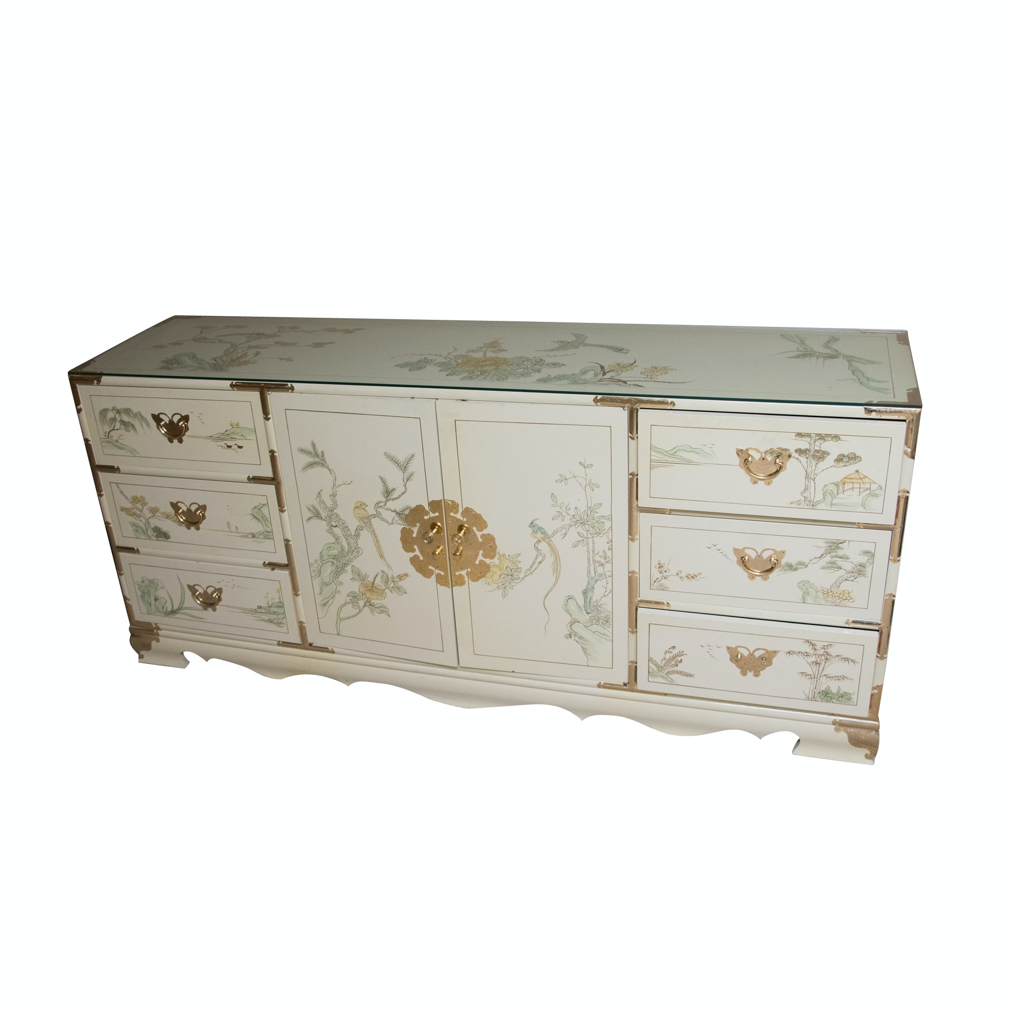 Chinoiserie Hand Painted Sideboard