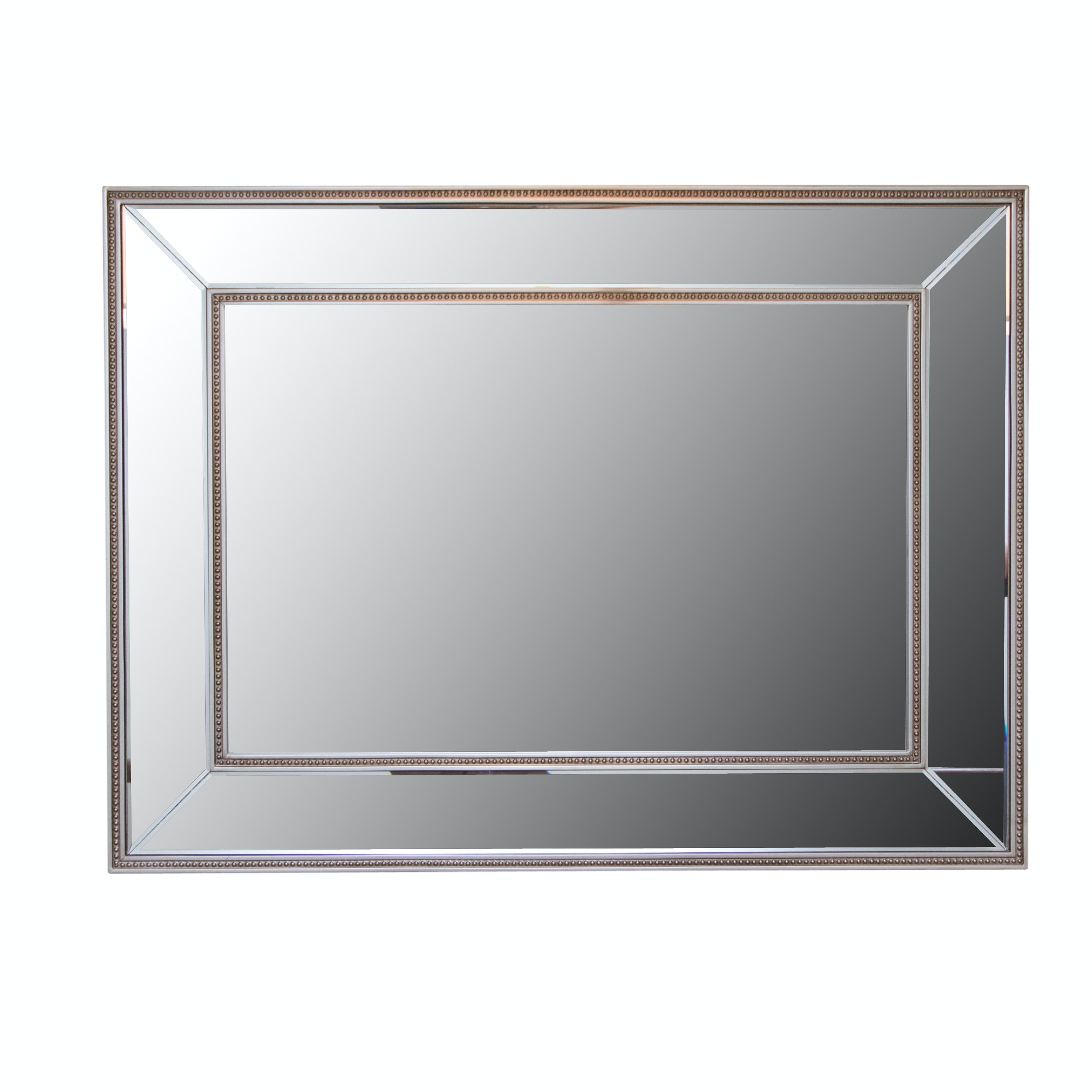 Contemporary Rectangular Beveled Wall Mirror
