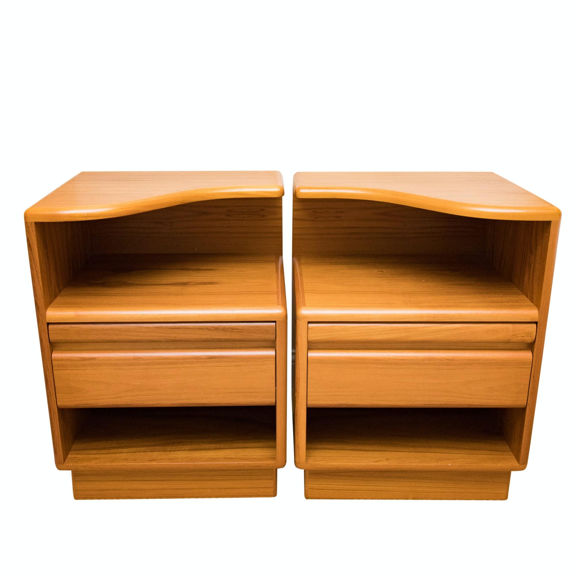 Pair of Teak Nightstands by Otmar Furniture