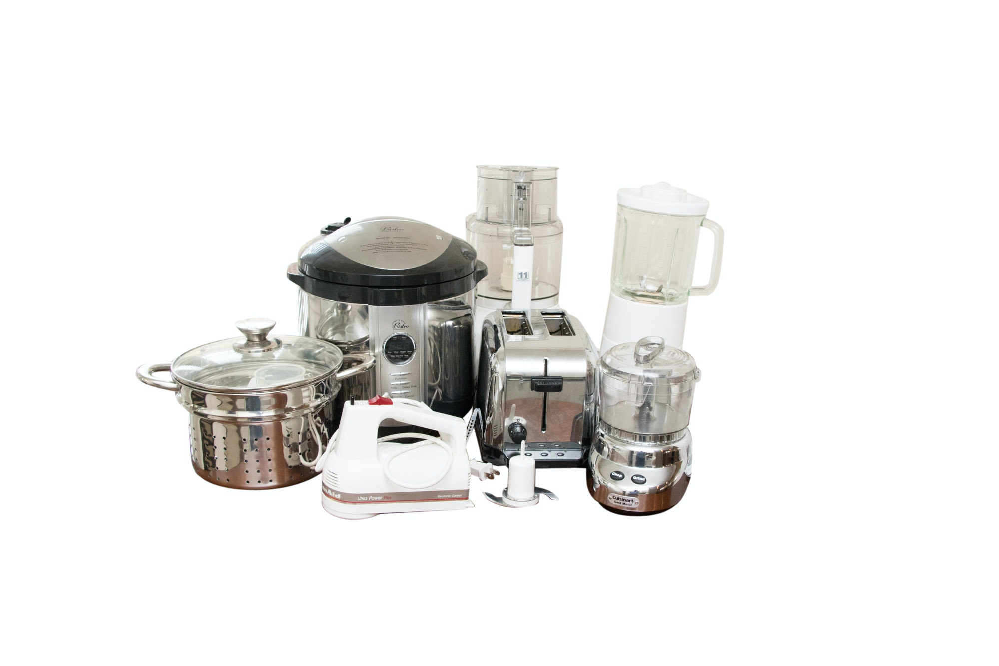 Small Kitchen Appliances Including Cuisinart, KitchenAide and Williams-Sonoma