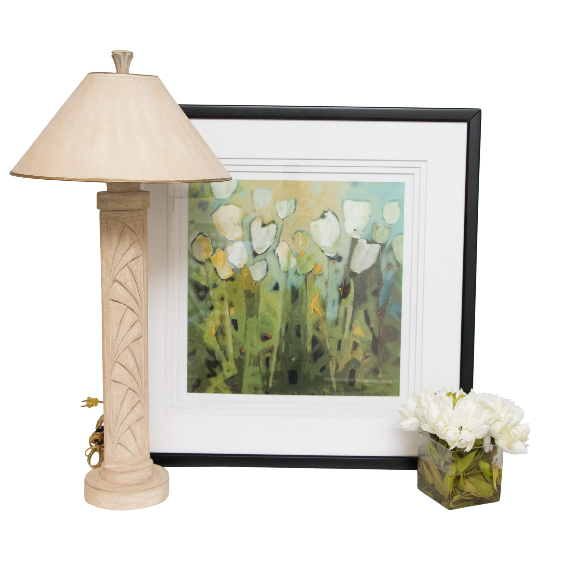 Ceramic Table Lamp with John-Richards Botanical and More