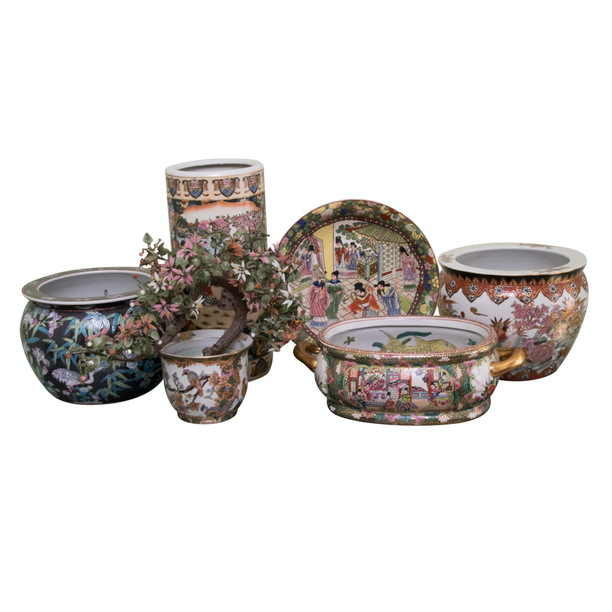 Collection of Chinese Porcelain Vases and Decor