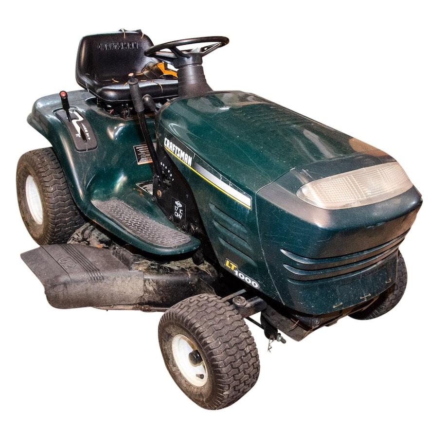 Craftsman Lt1000 Riding Mower >> Craftsman Lt1000 Riding Lawnmower With 17hp Ohv Briggs Stratton