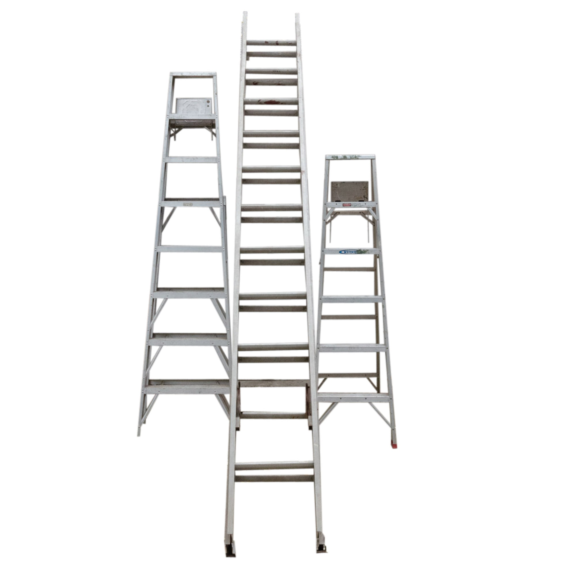 24' Extension Ladder and Two Aluminum Step Ladders