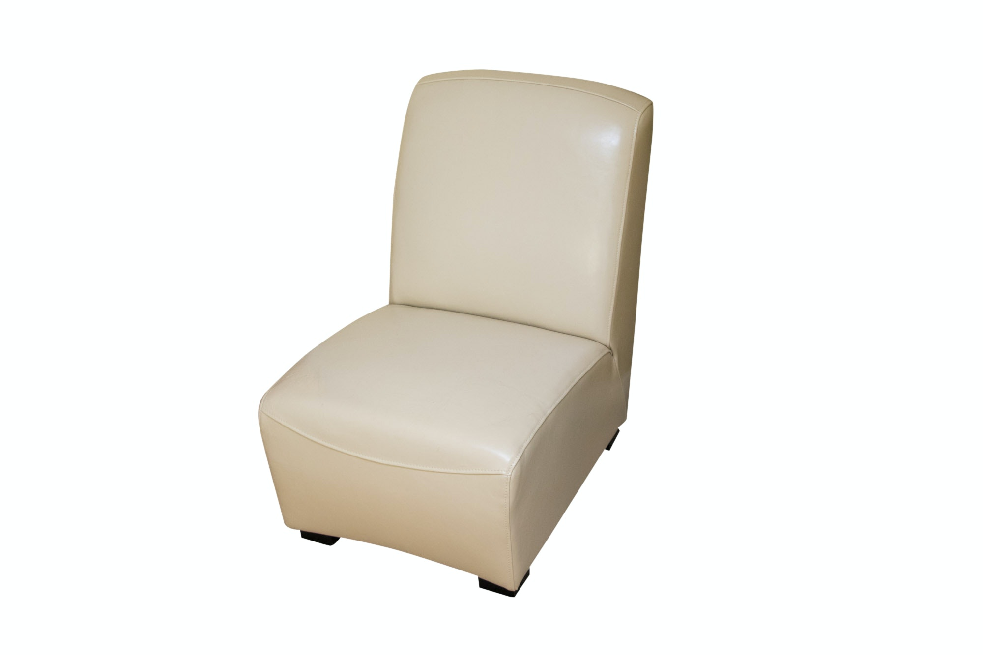 Contemporary Leather Slipper Chair