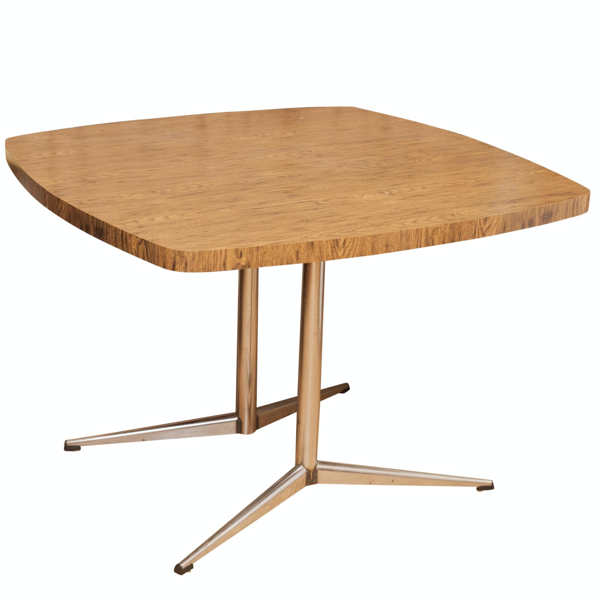 Mid Century Modern Melamine Resin and Metal Dinette Table, Mid-20th Century