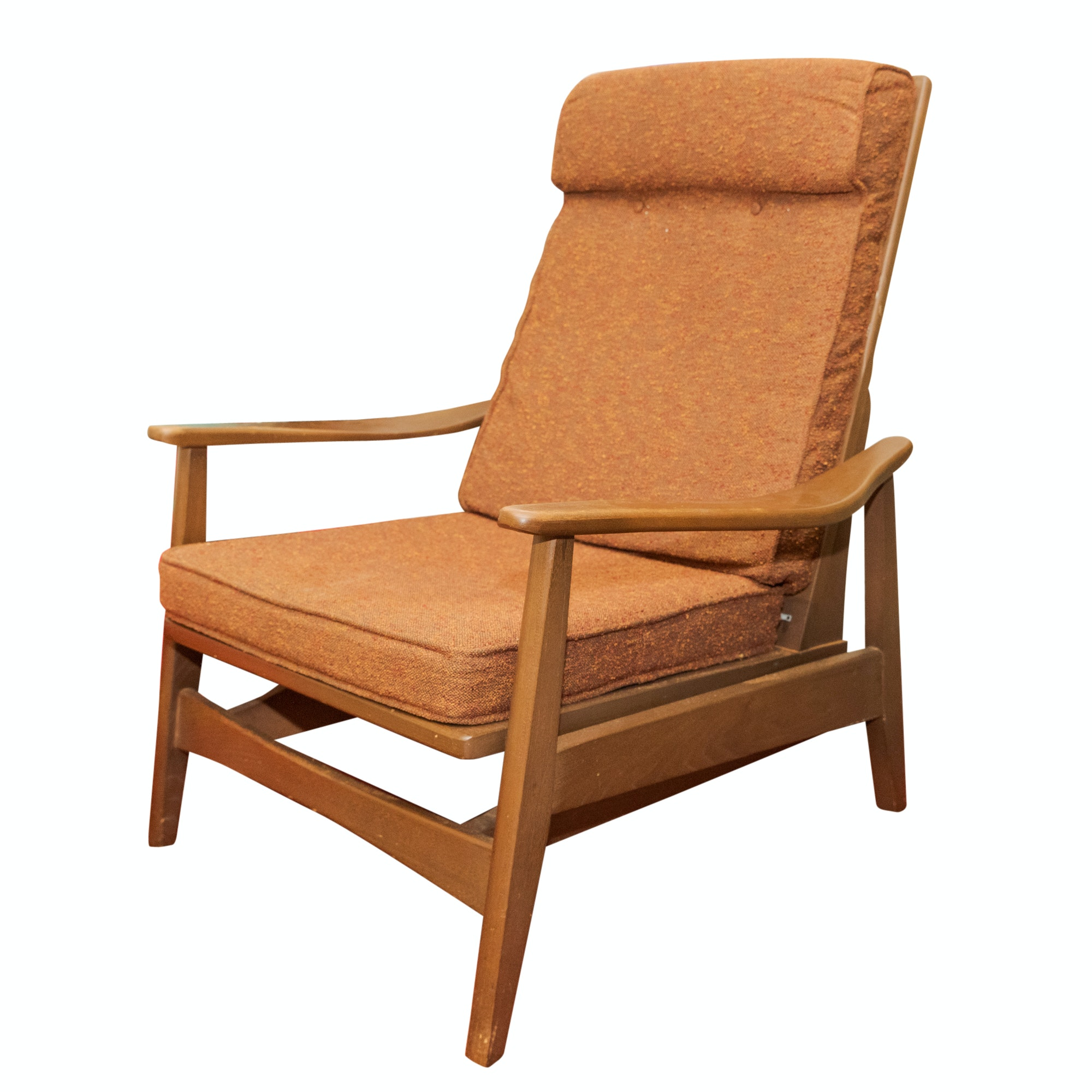 Danish Modern Style Teak Rocking Lounge Chair, Mid-20th Century