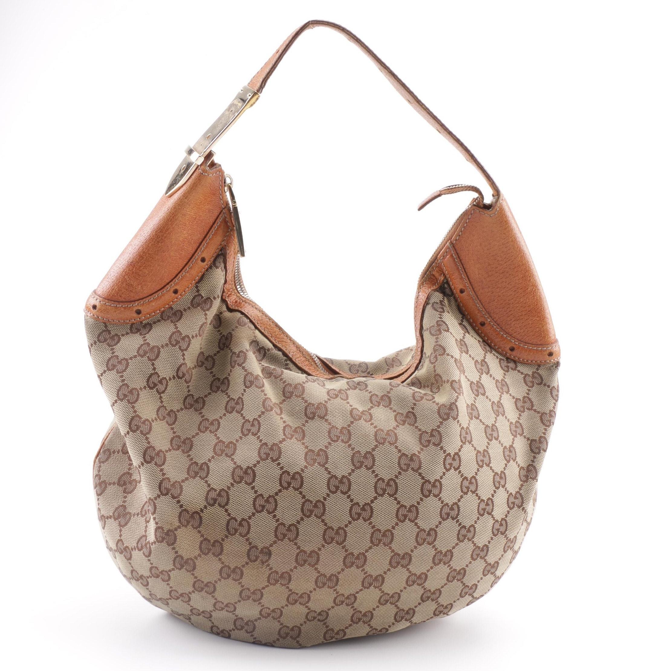 Vintage Gucci GG Supreme Canvas Hobo Bag
