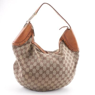 c936d458223 Vintage Gucci GG Supreme Canvas Hobo Bag