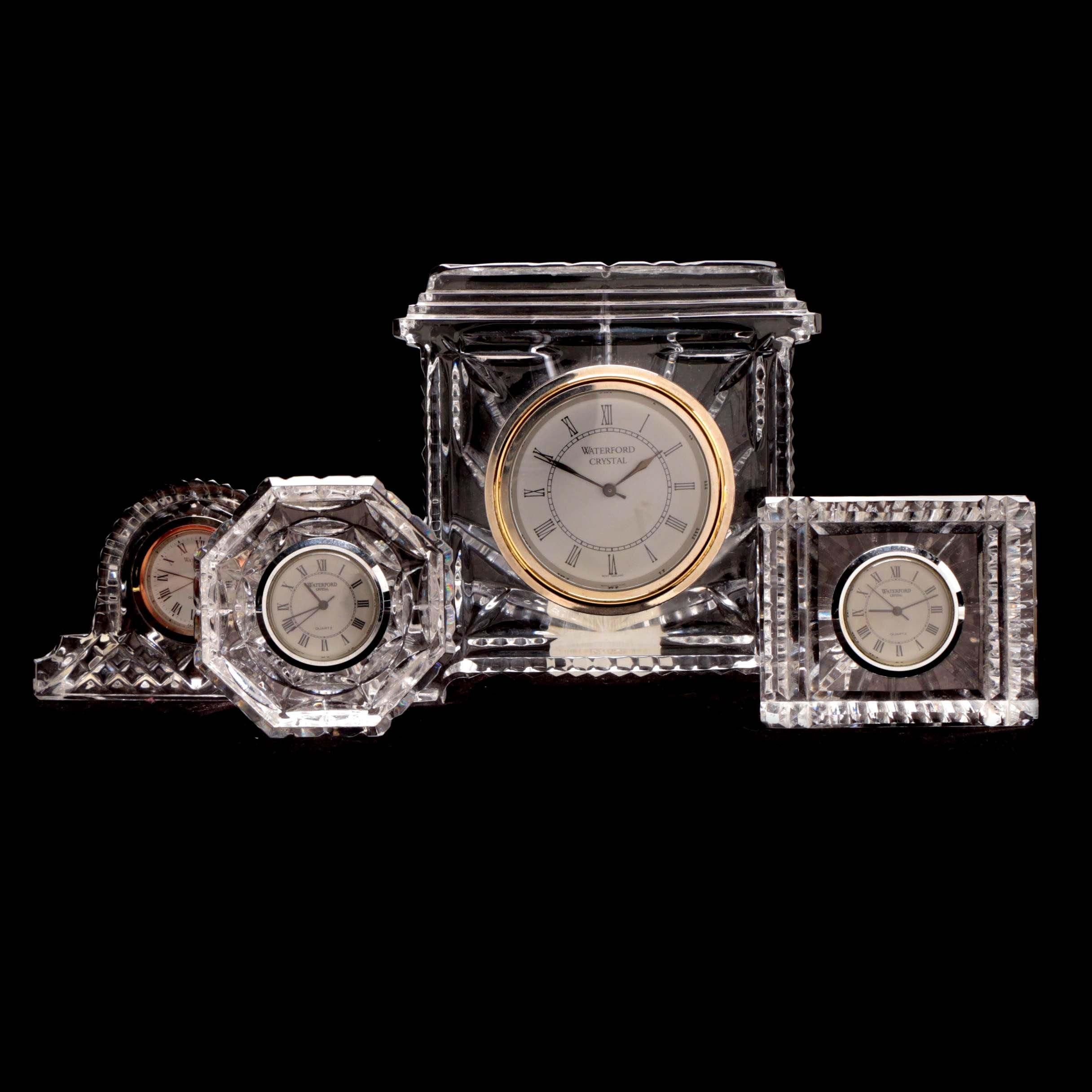 Waterford Crystal Desk Clocks