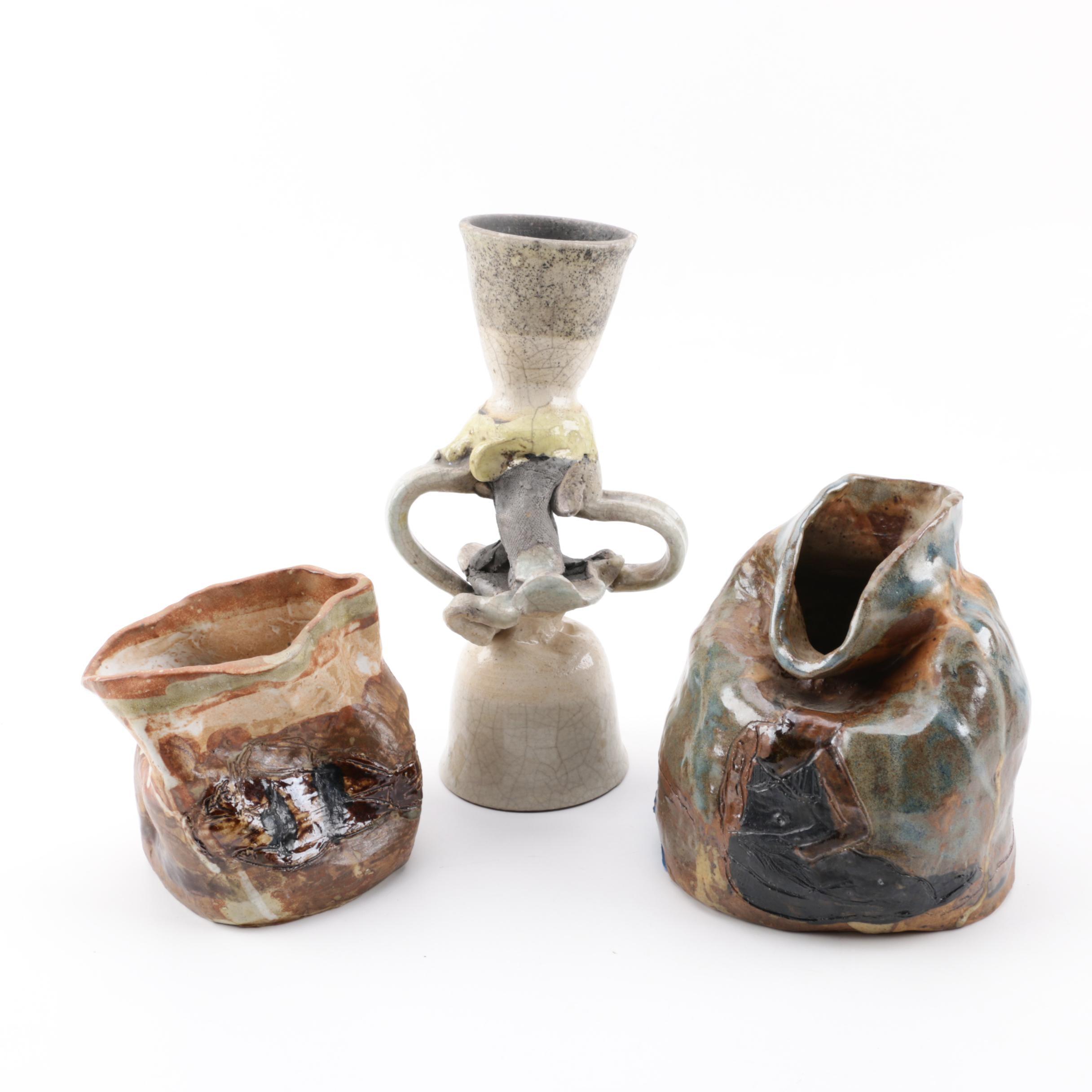 Handbuilt and Raku Fired Pottery