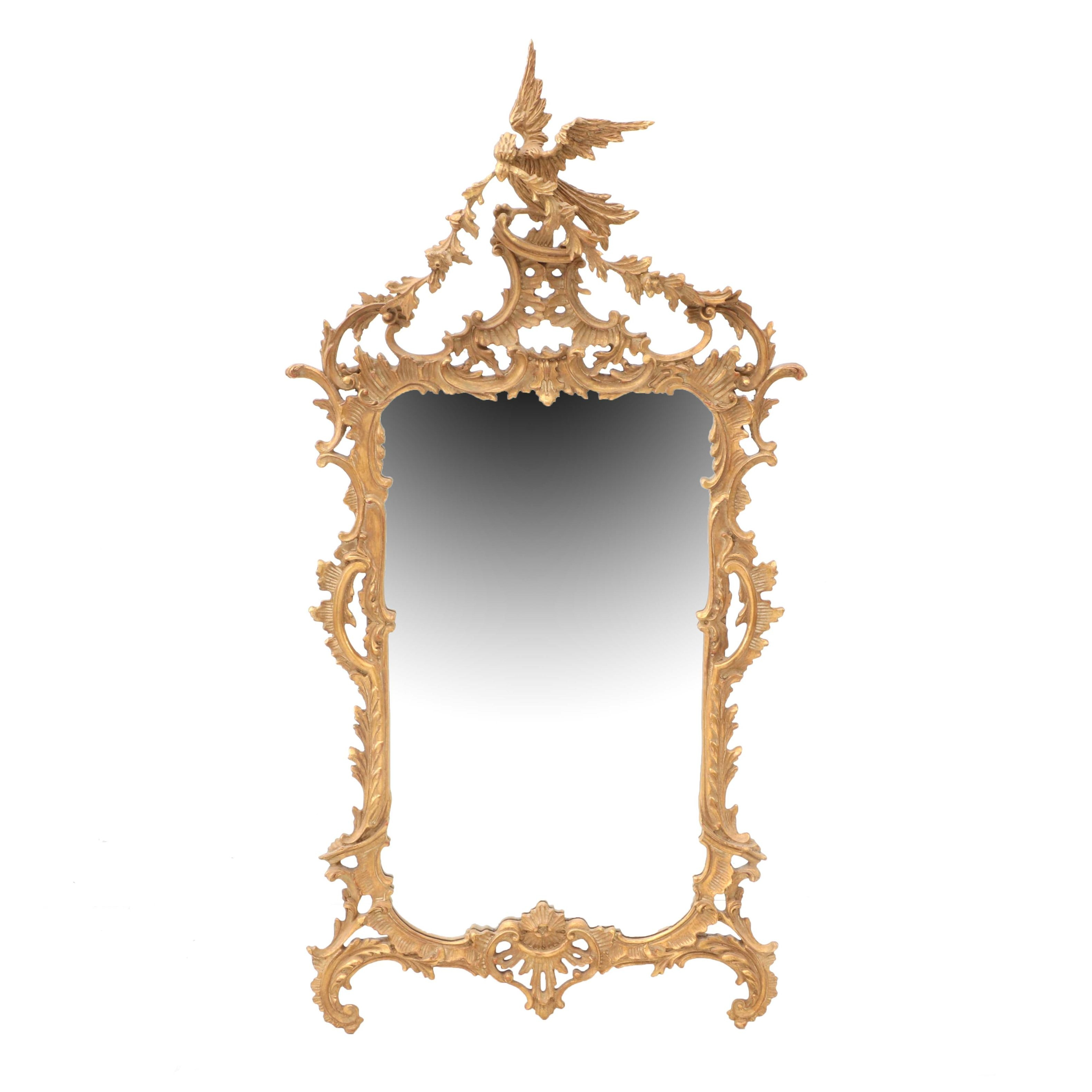 """Carver's Guild """"Chippendale Antique Gold"""" Decorative Wall Mirror"""