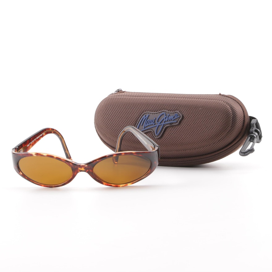 9038c2ce21 Maui Jim MJ125 Tortoiseshell Style Prescription Sunglasses with Case   EBTH