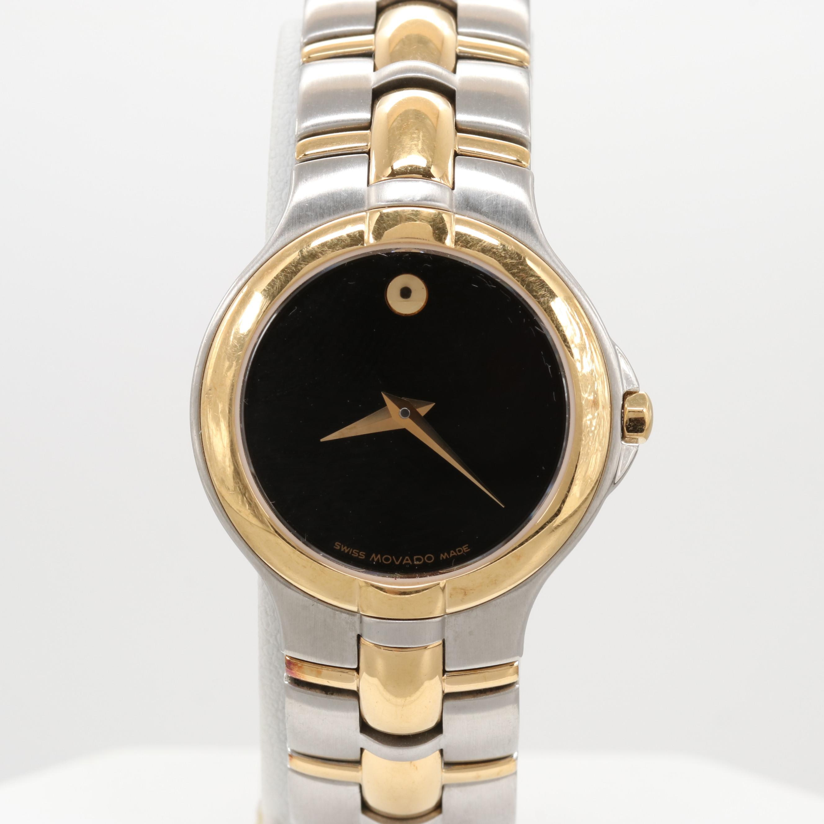 "Movado Two-Tone Stainless Steel  ""Museum Piece"" Wristwatch"