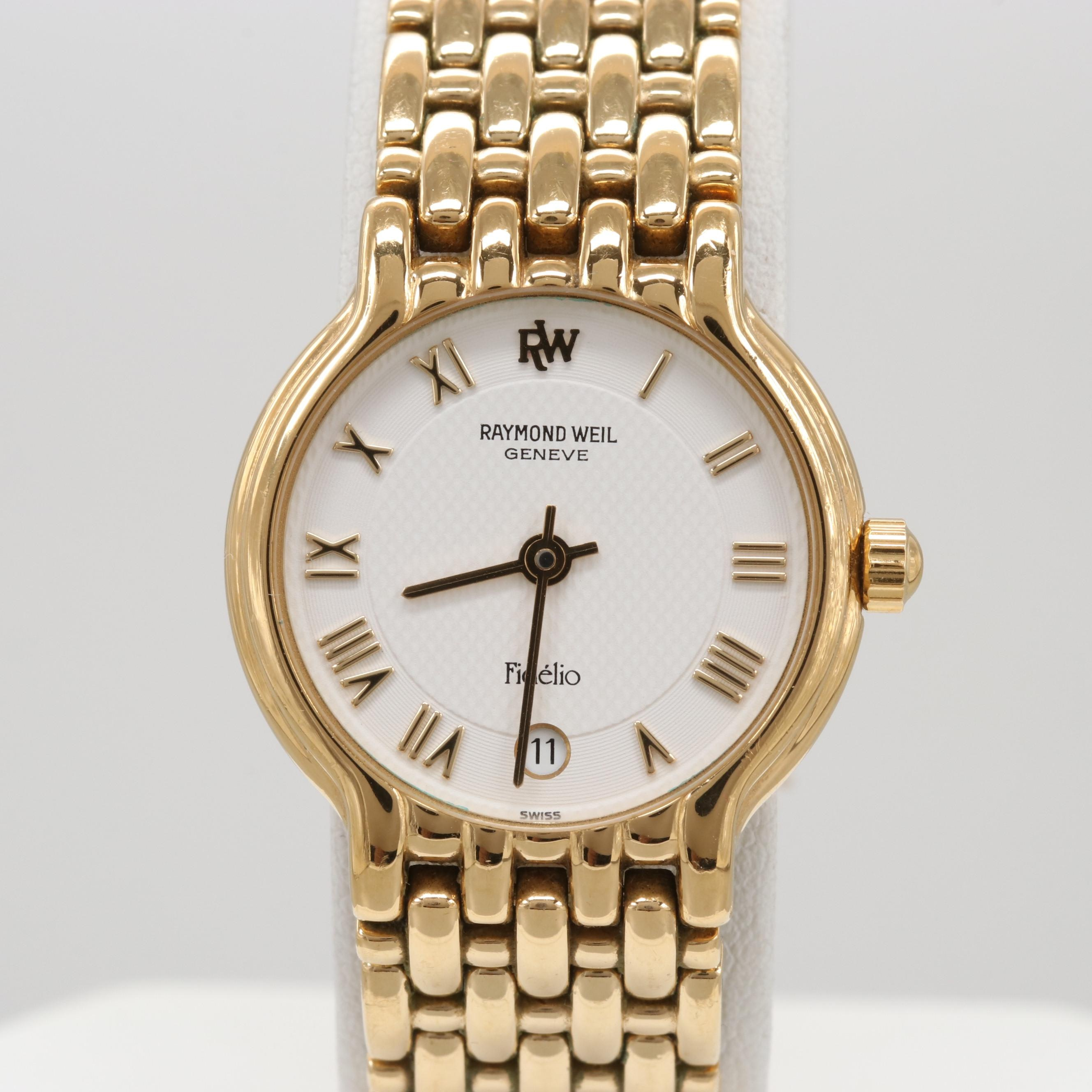 Raymond Weil Fidélio 18K Gold Plated Quartz Wristwatch