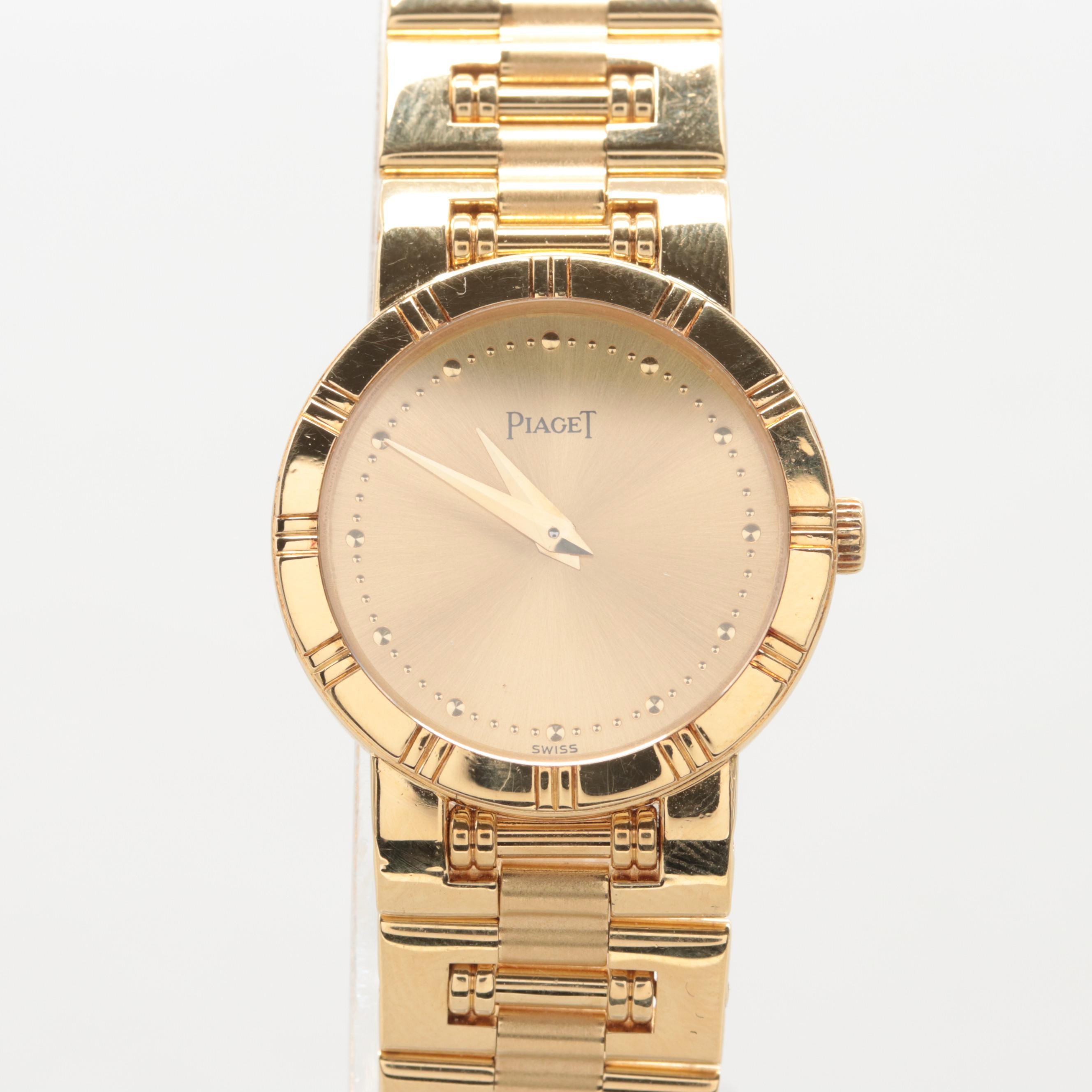 Piaget Dancer 18K Solid Yellow Gold Quartz Wristwatch
