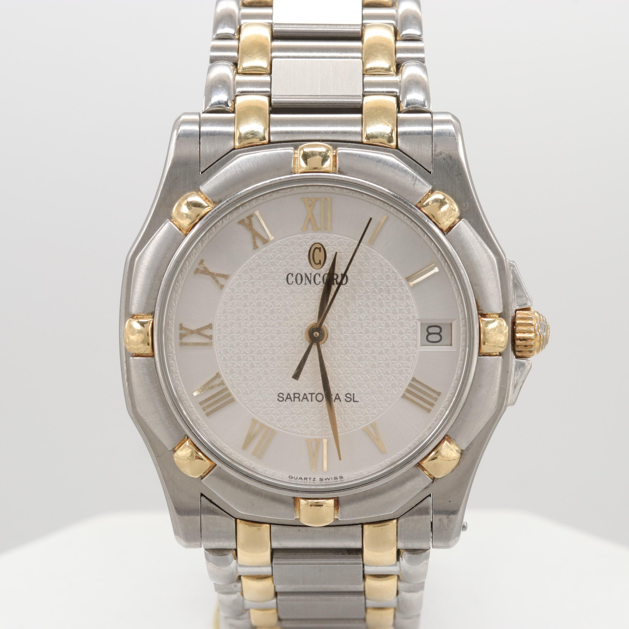Concord Saratoga SL Two-Tone Quartz Wristwatch