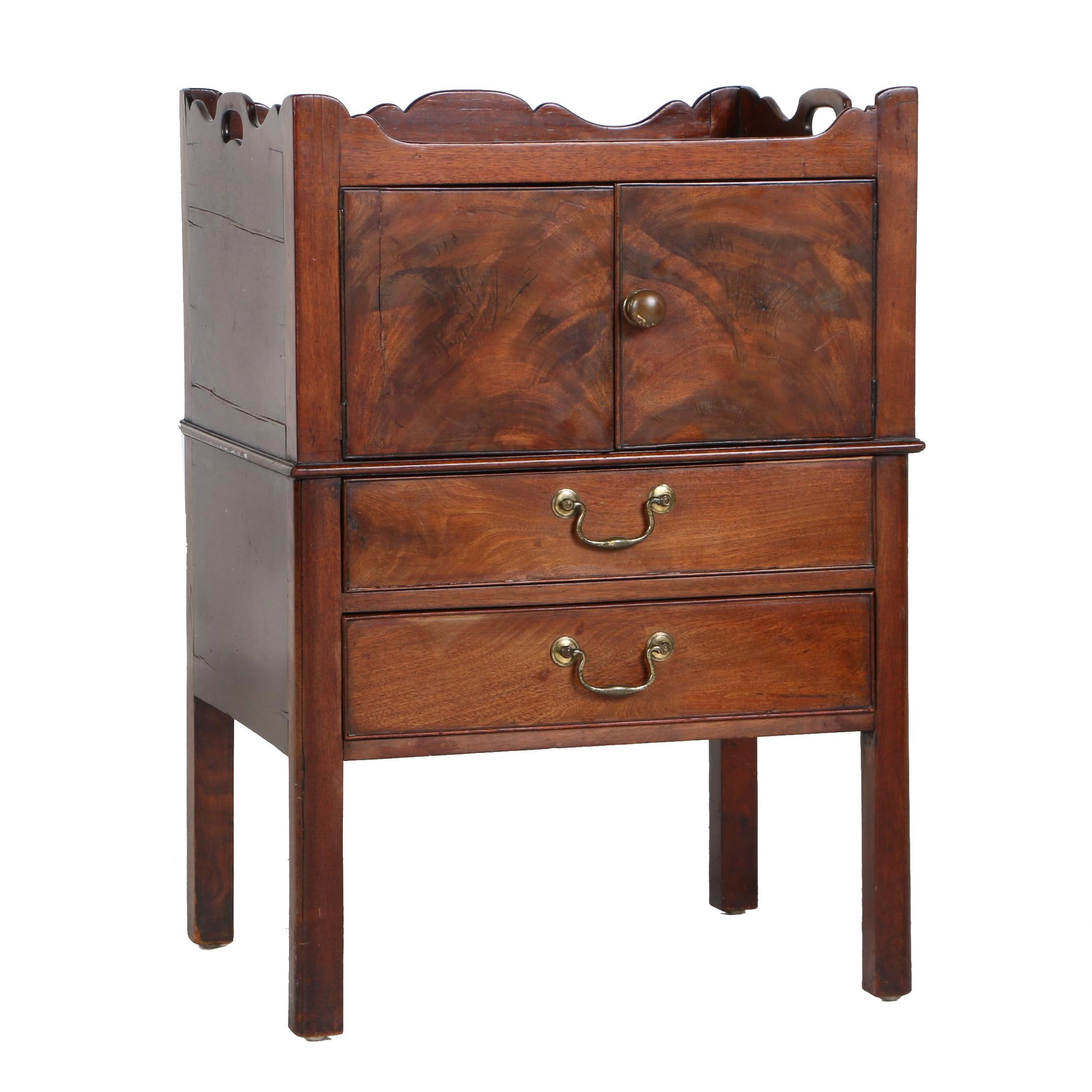 George III Mahogany Bedside Cabinet, Late 18th Century