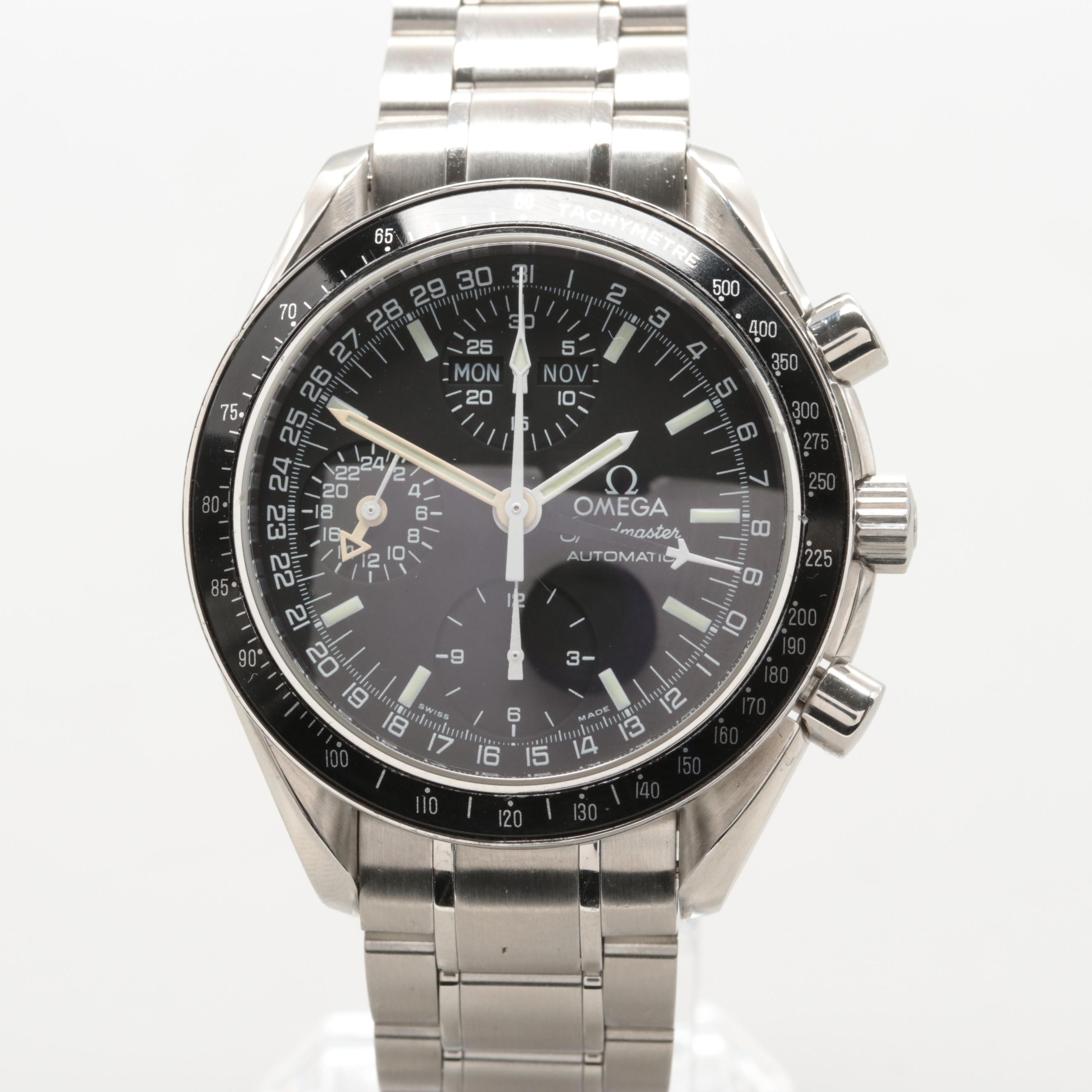 Omega Speedmaster Chronograph Mark 40 Triple Calendar Steel Wristwatch