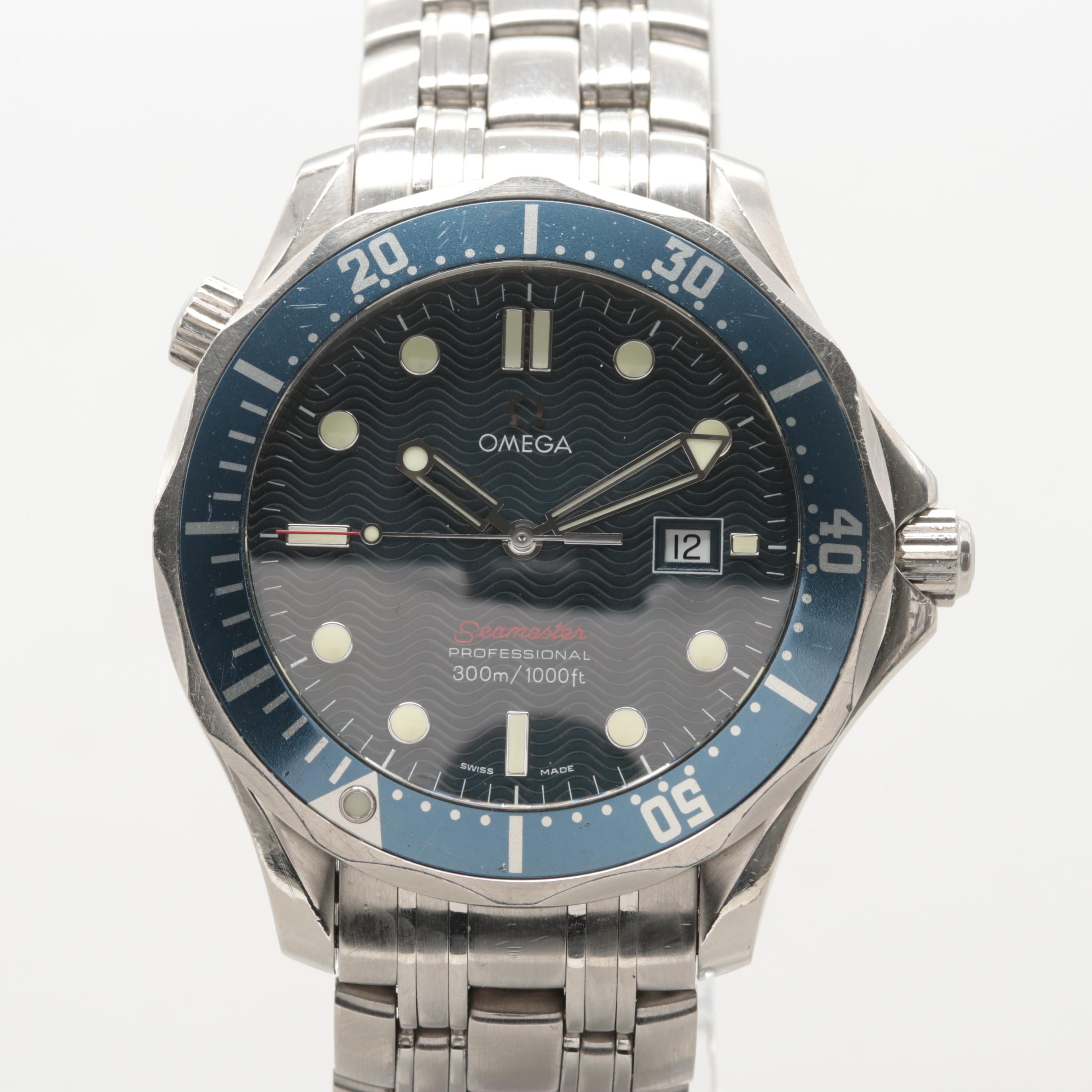 Omega Seamaster Professional Full Size 300M Quartz Wristwatch