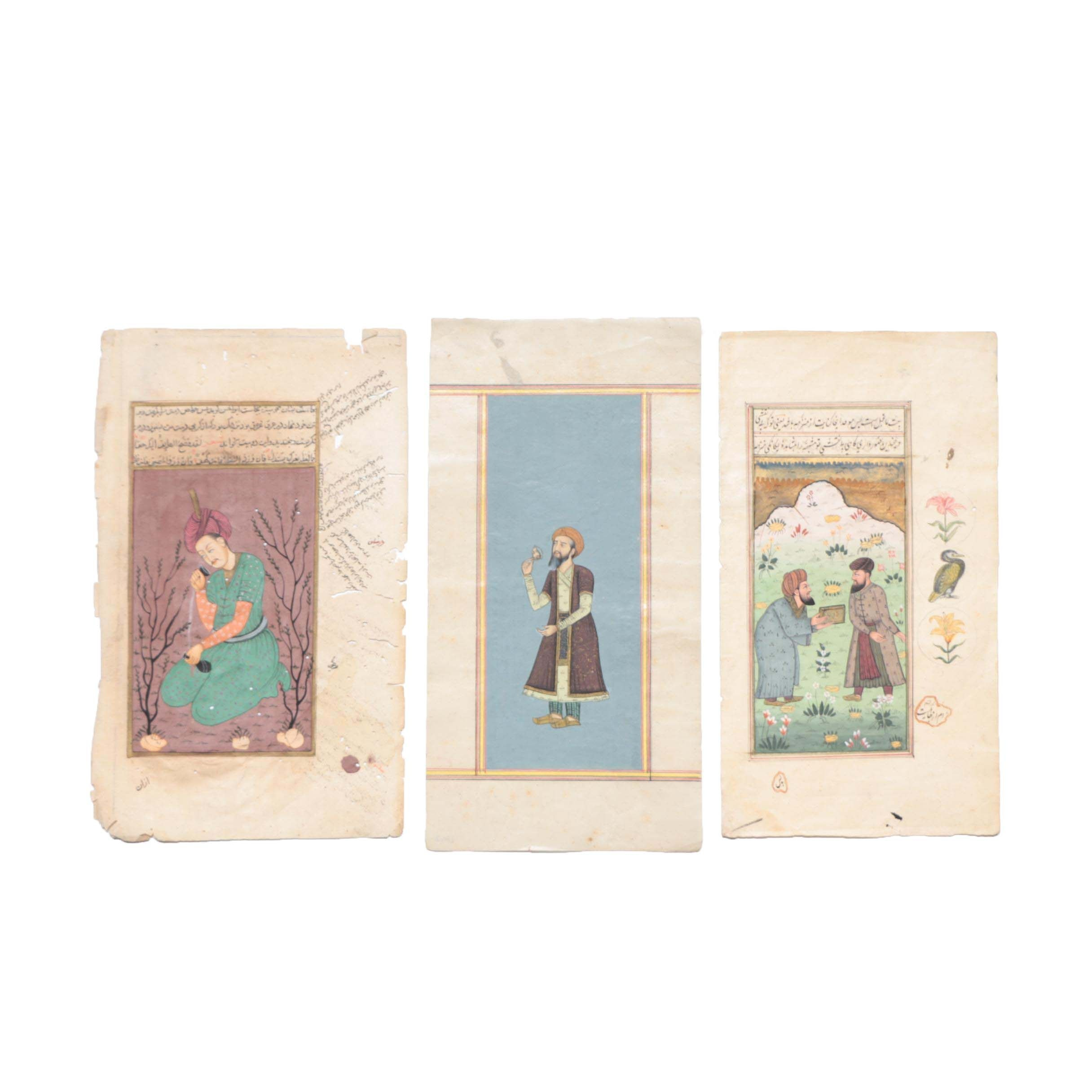 19th Century Mughal Miniature Manuscript Paintings