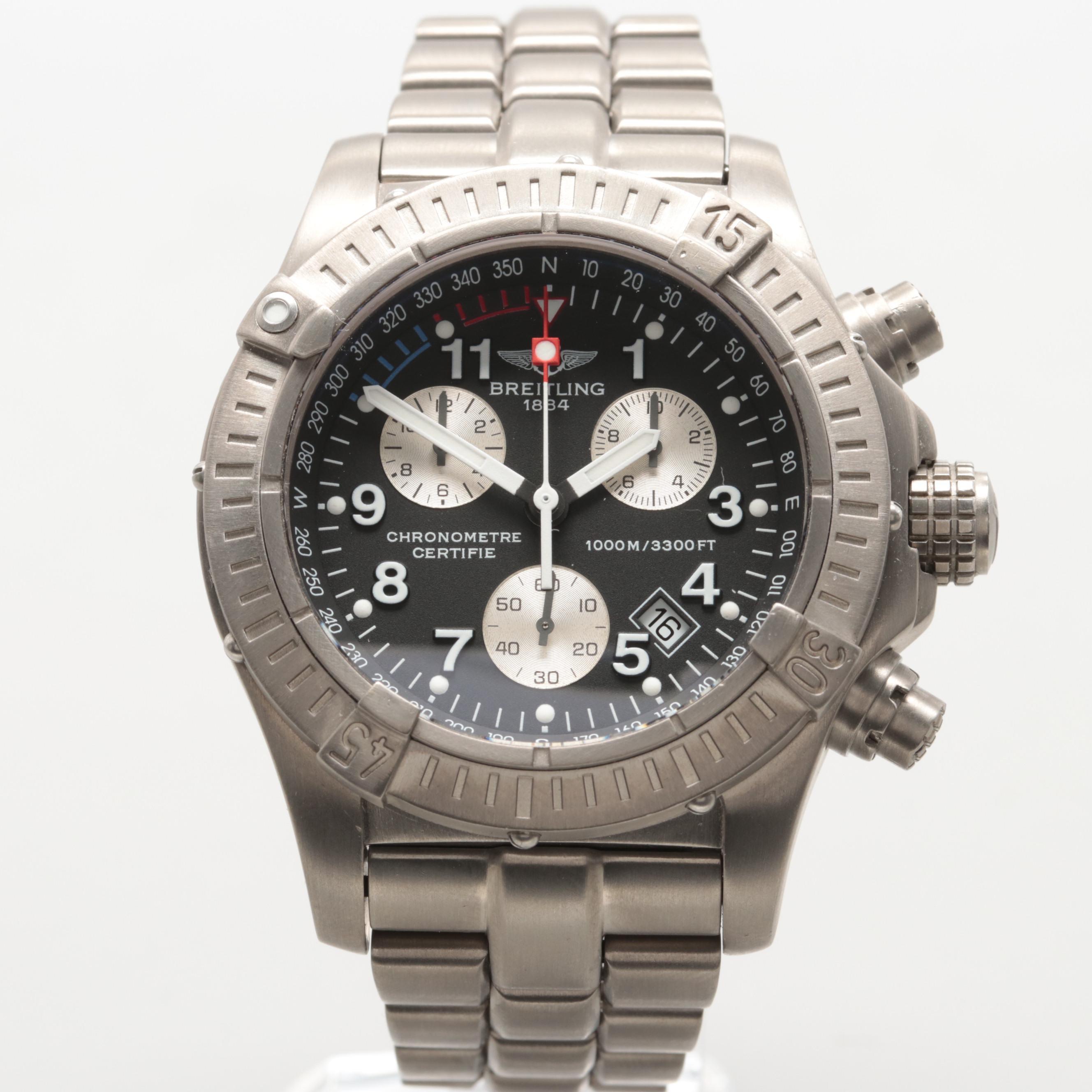 Breitling Chrono Avenger M1 Titanium Quartz Wristwatch