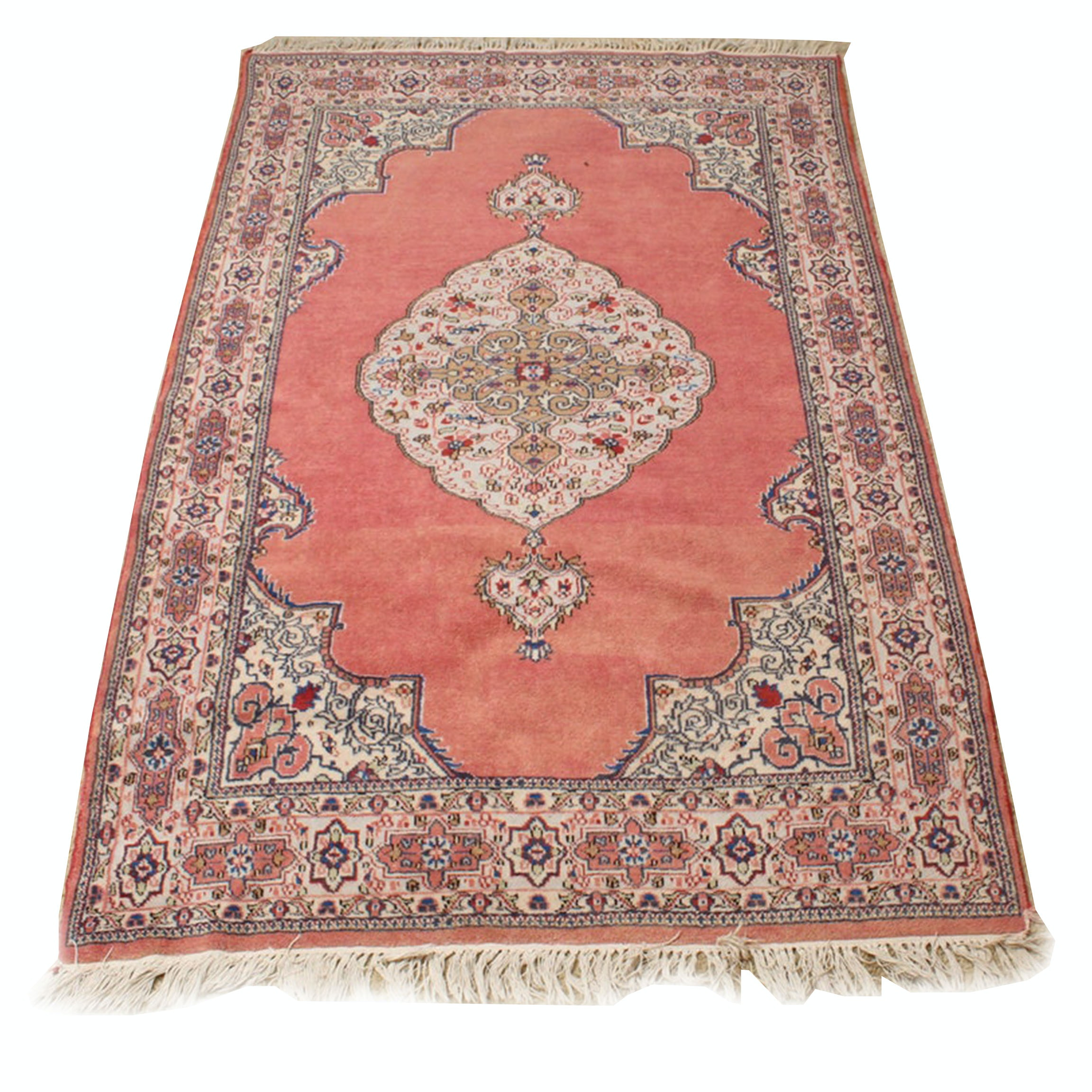 Vintage Power Loomed  Persian Style Rug