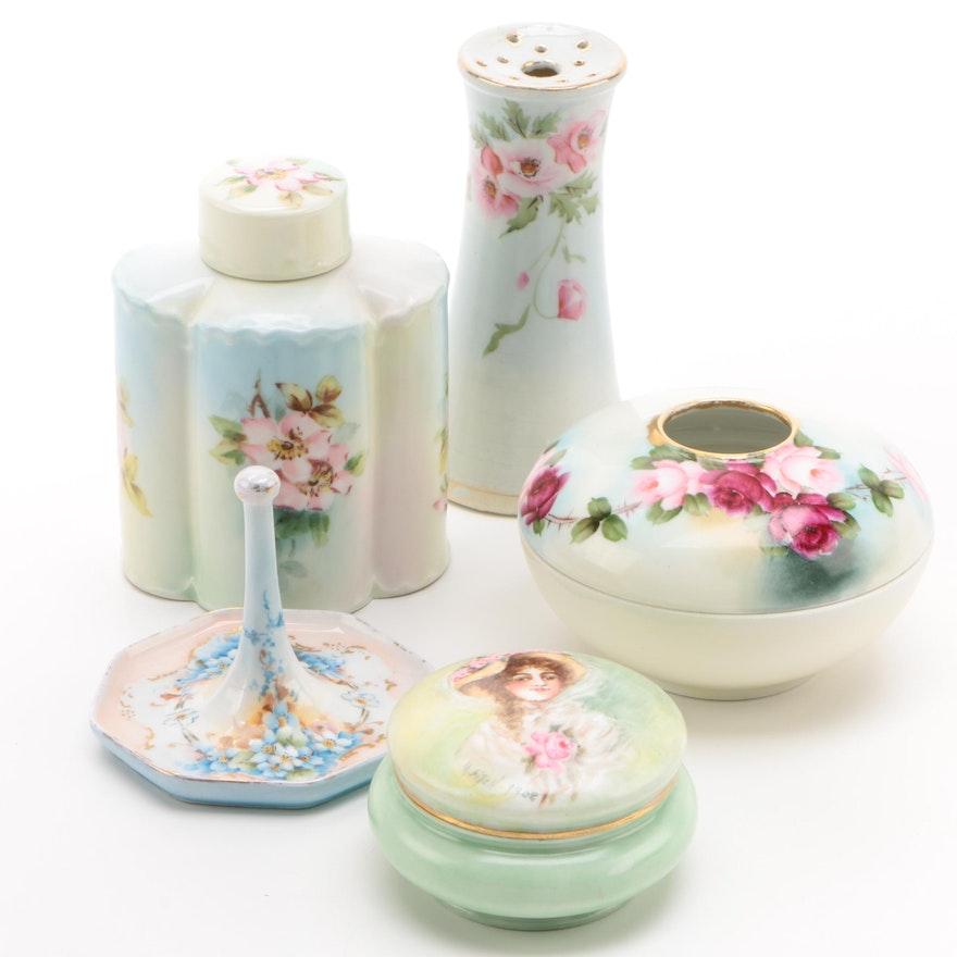 Porcelain Vanity Accessories Including Mz Austria Ebth