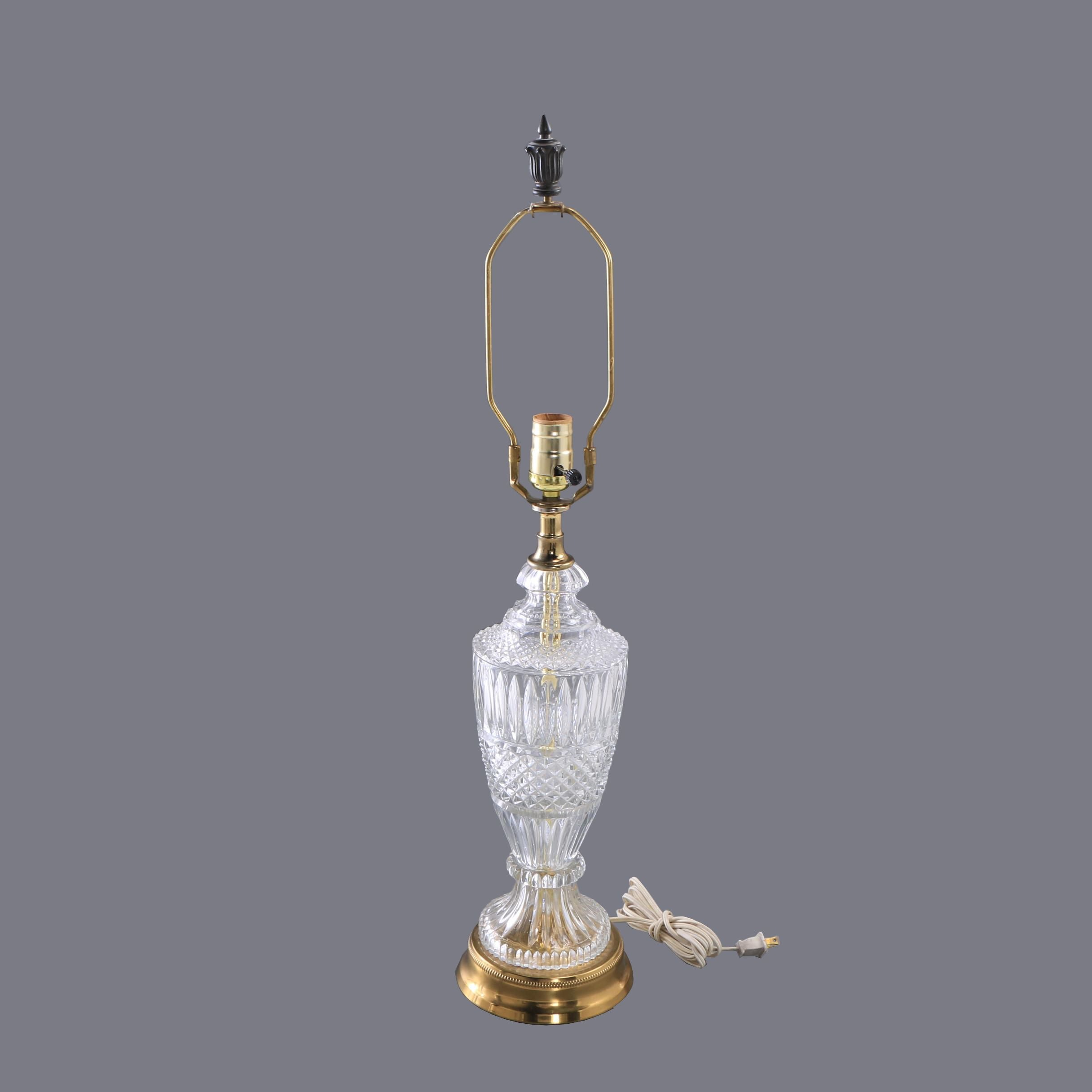 Crystal Urn Style Table Lamp