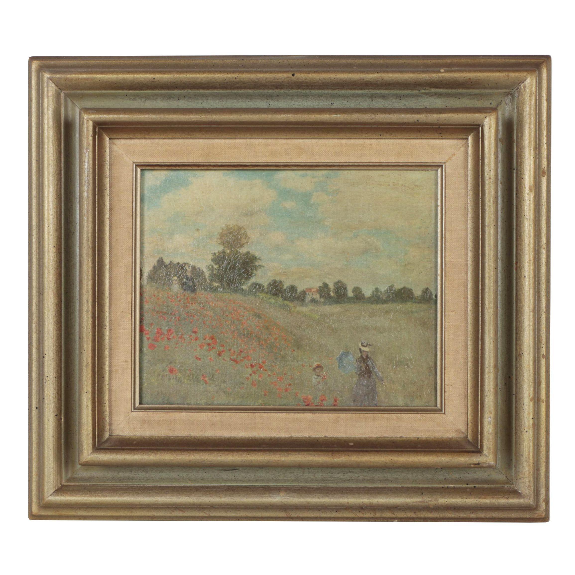 """Giclée after Claude Monet """"Poppies"""""""