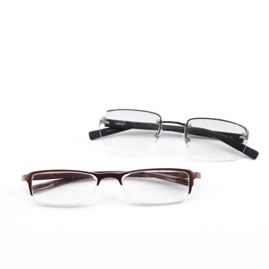 a1c75a191ca Eye Bobs and DKNY Rectangular Eyeglasses   EBTH