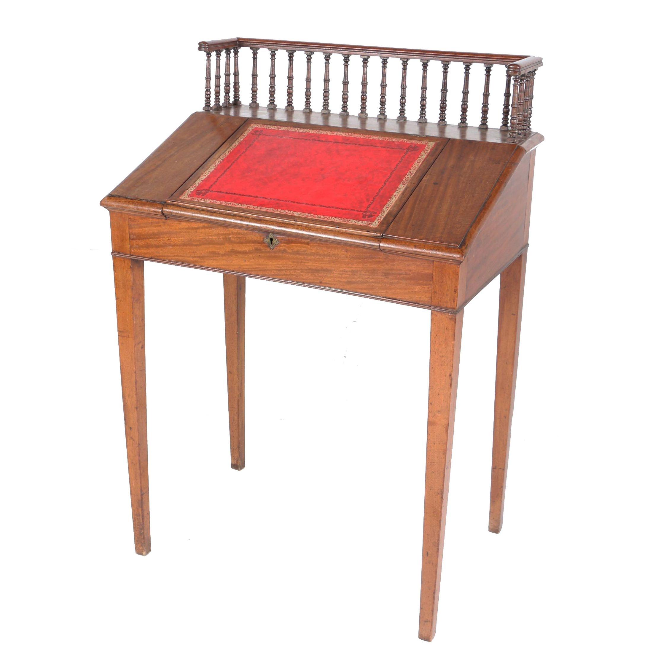 Victorian Mahogany Slant-Front Desk, Mid/Late 19th Century
