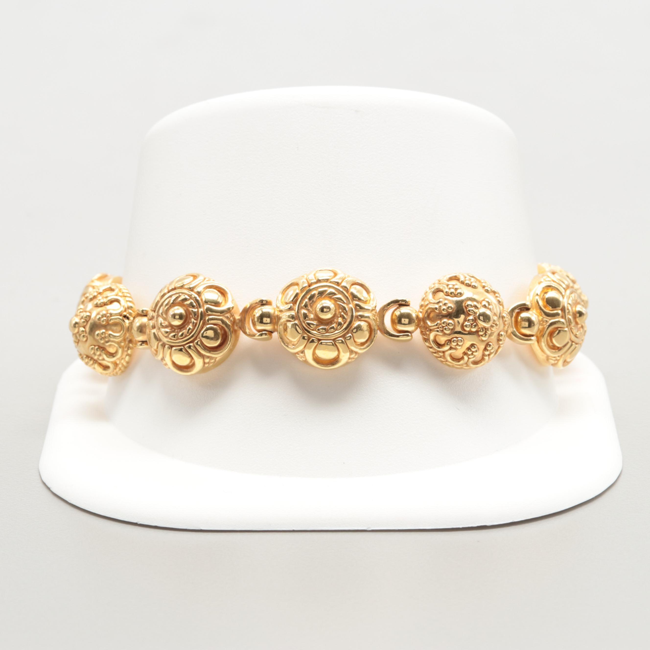 Graziella Italian 14K Yellow Gold Bracelet