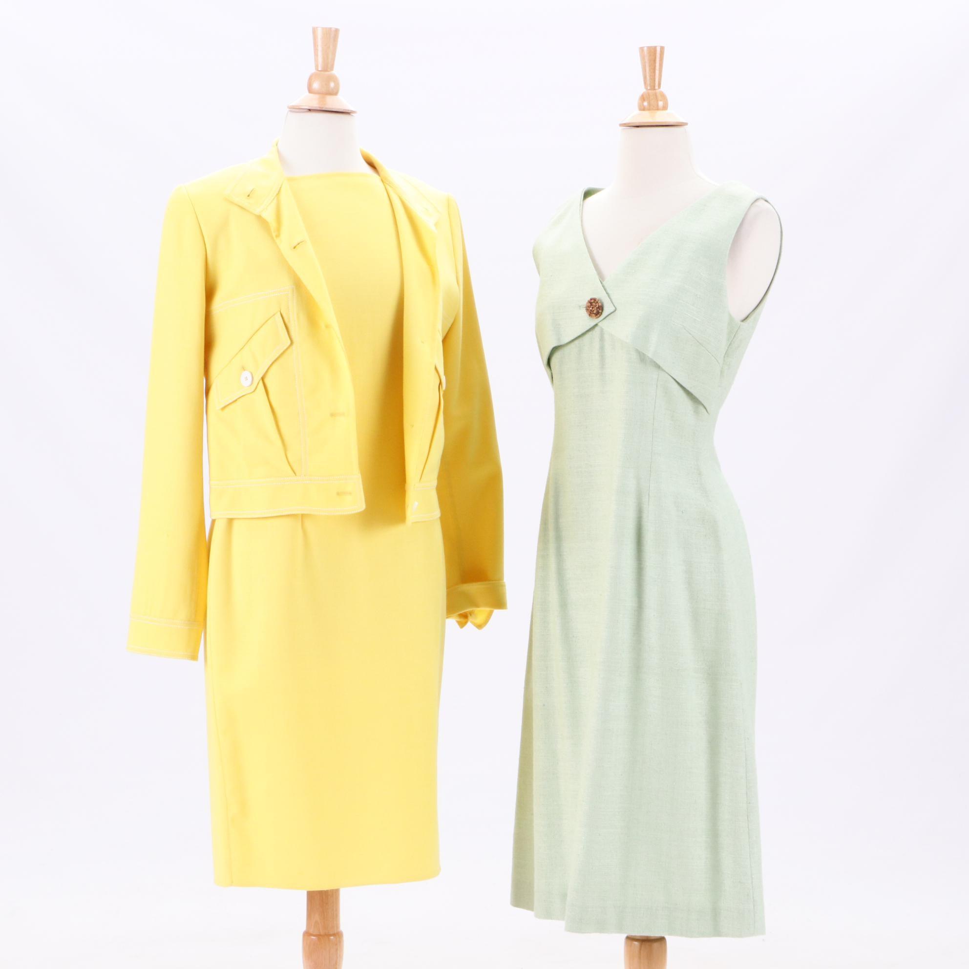 Doppia Handmade Italian Dress Suit and Noriko Maede Silk Weave Sleeveless Dress
