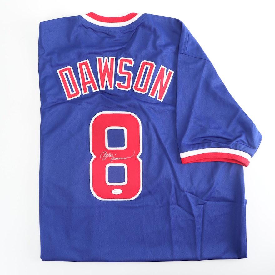 wholesale dealer 88223 c3a0f Andre Dawson Autographed Chicago Cubs Replica Jersey - JSA ...