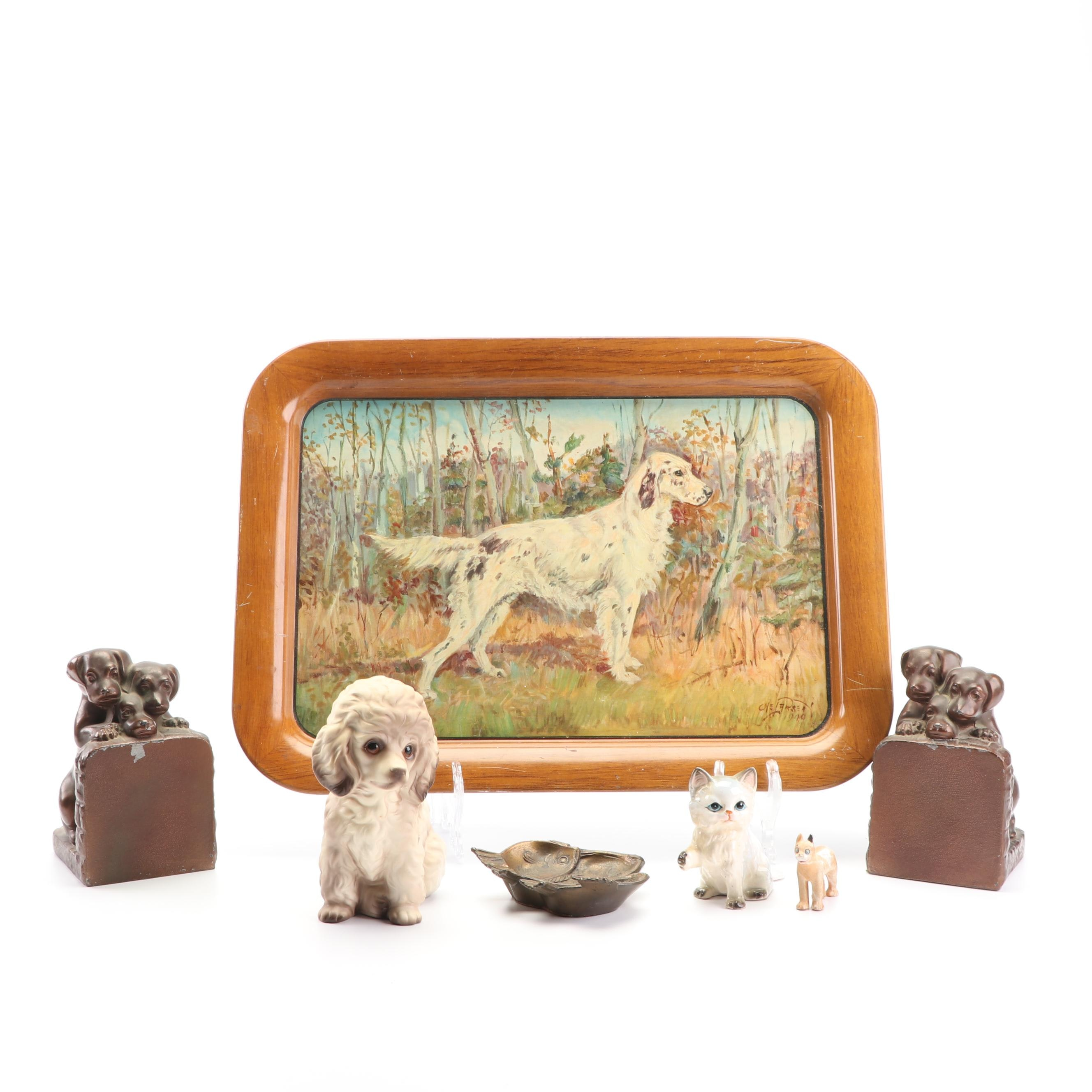Animal Figurines, Themed Trays and Bookends