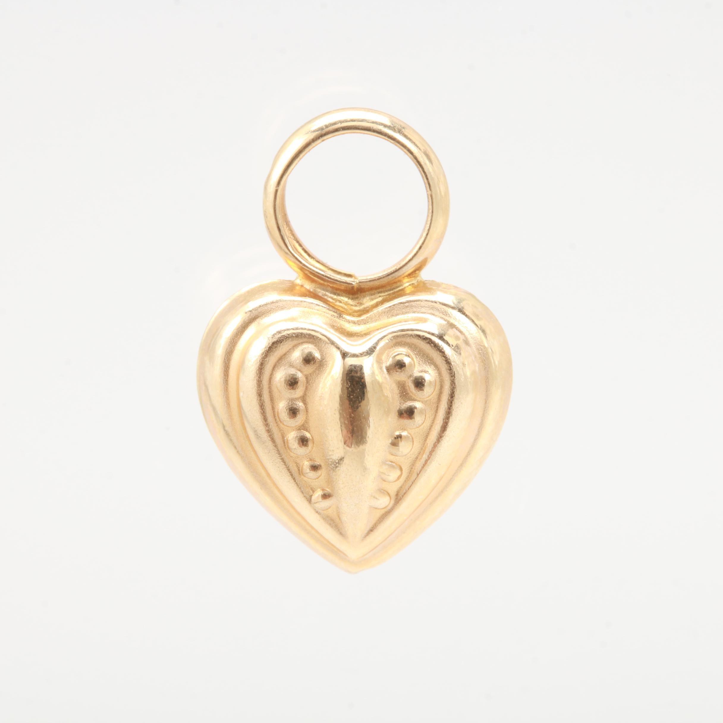 Peter Brams Designs 14K Yellow Gold Heart Pendant