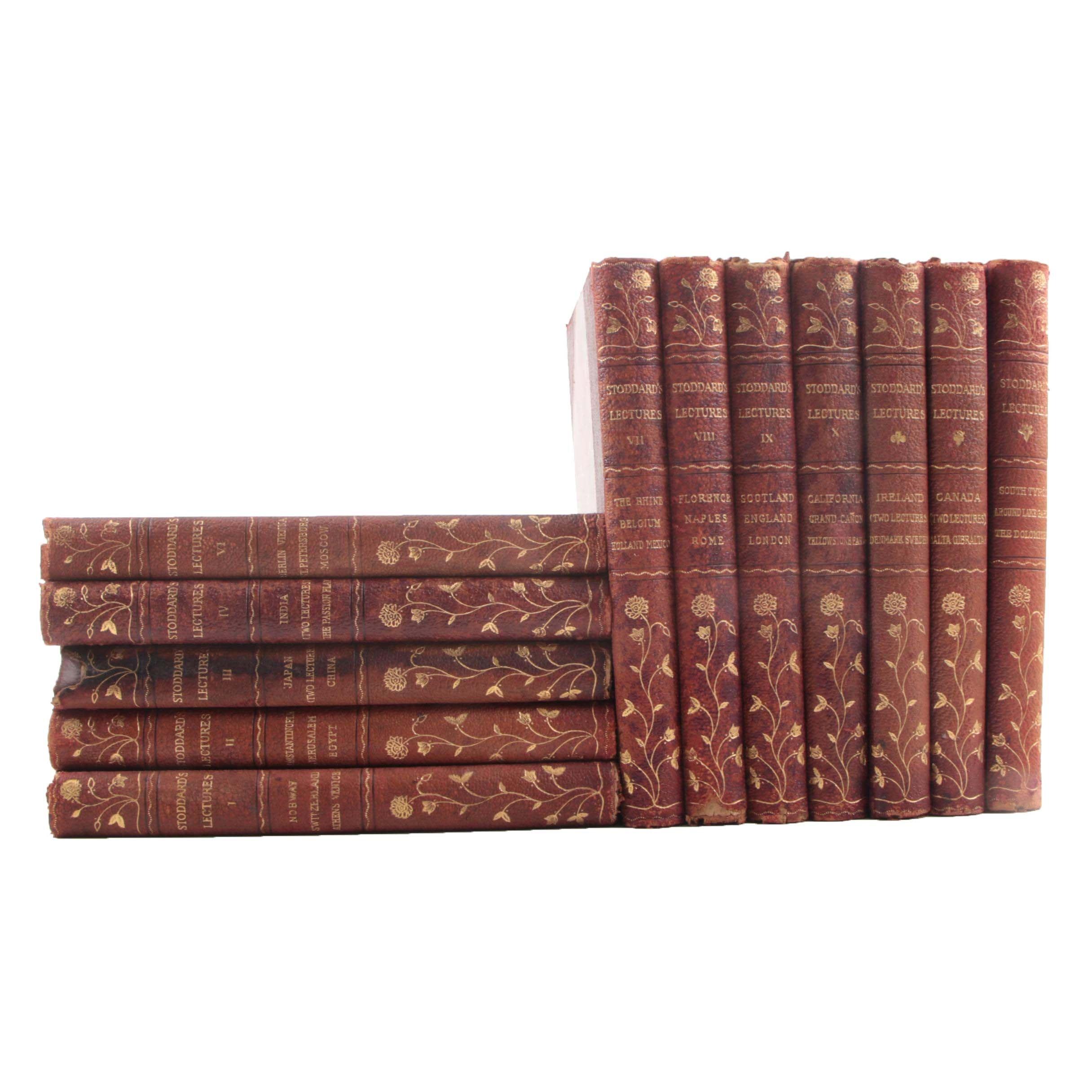 "Antique ""John L. Stoddard's Lectures"" Multi-Volume Set"