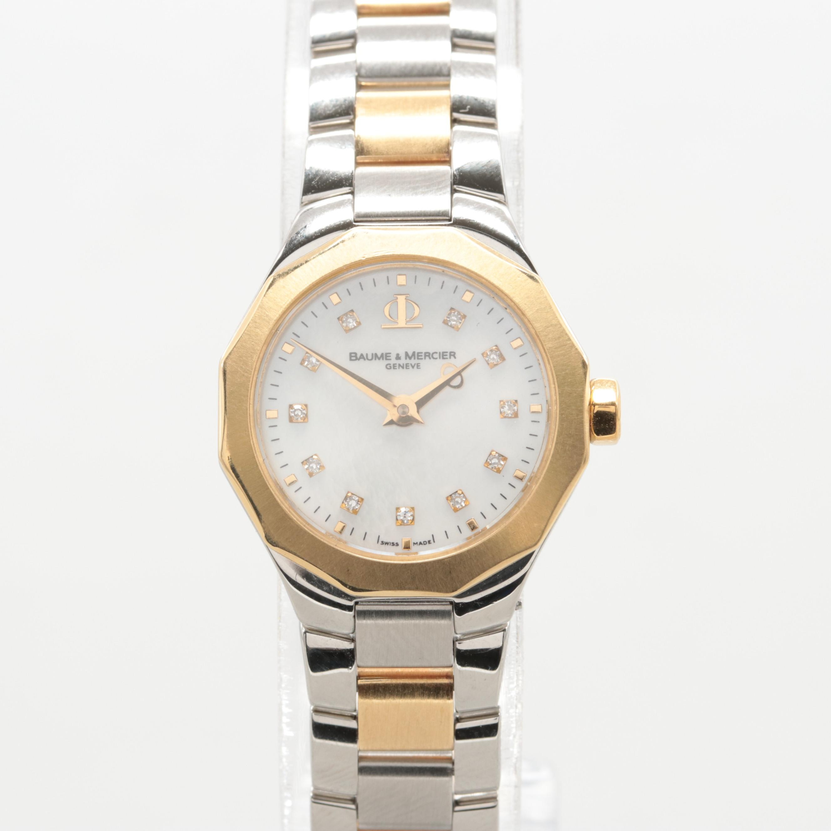 Baume & Mercier Riveria Two-Tone Diamond and Mother of Pearl Wristwatch