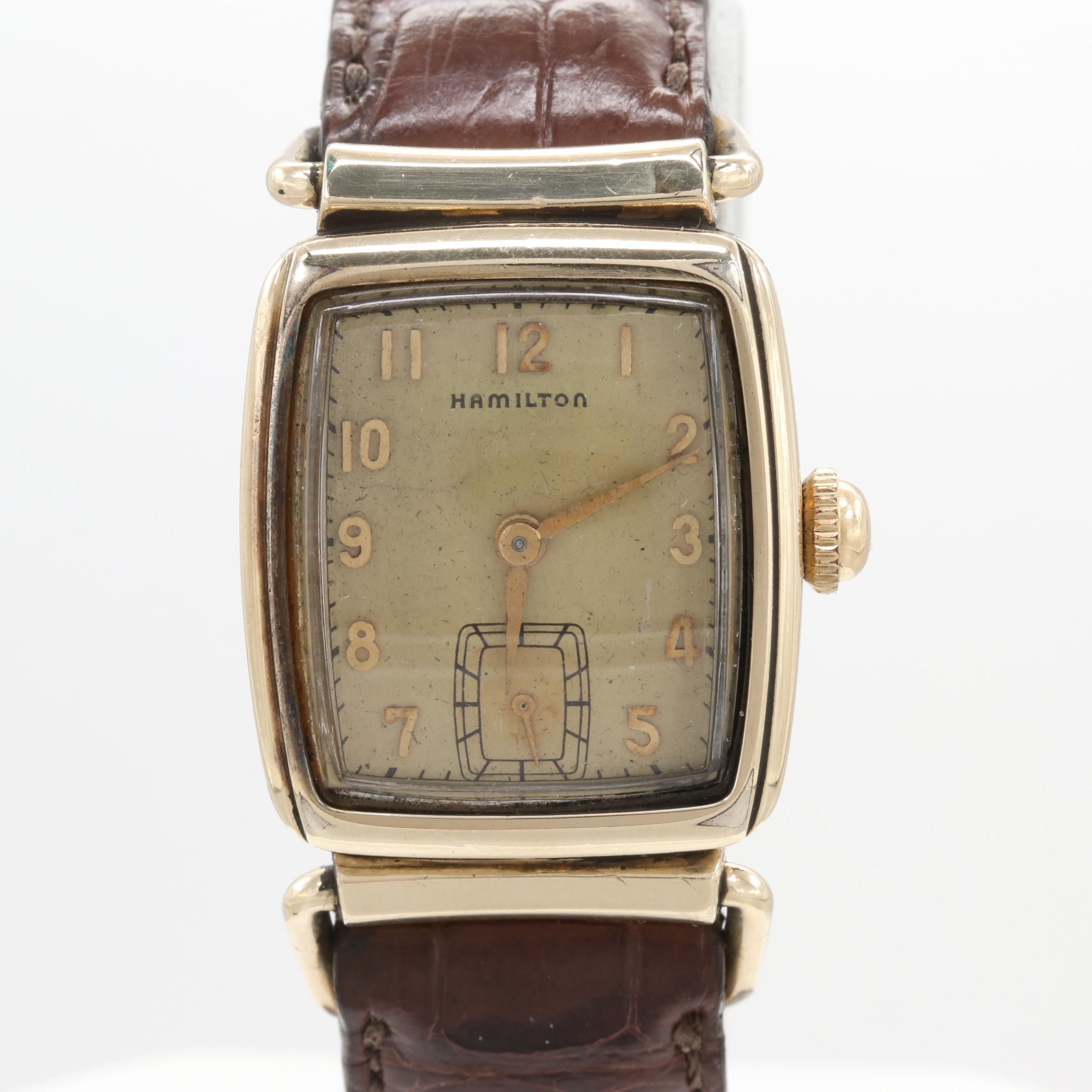 "Hamilton Brandon ""CLD"" 10K Gold Filled Stem Wind Wristwatch, 1948"
