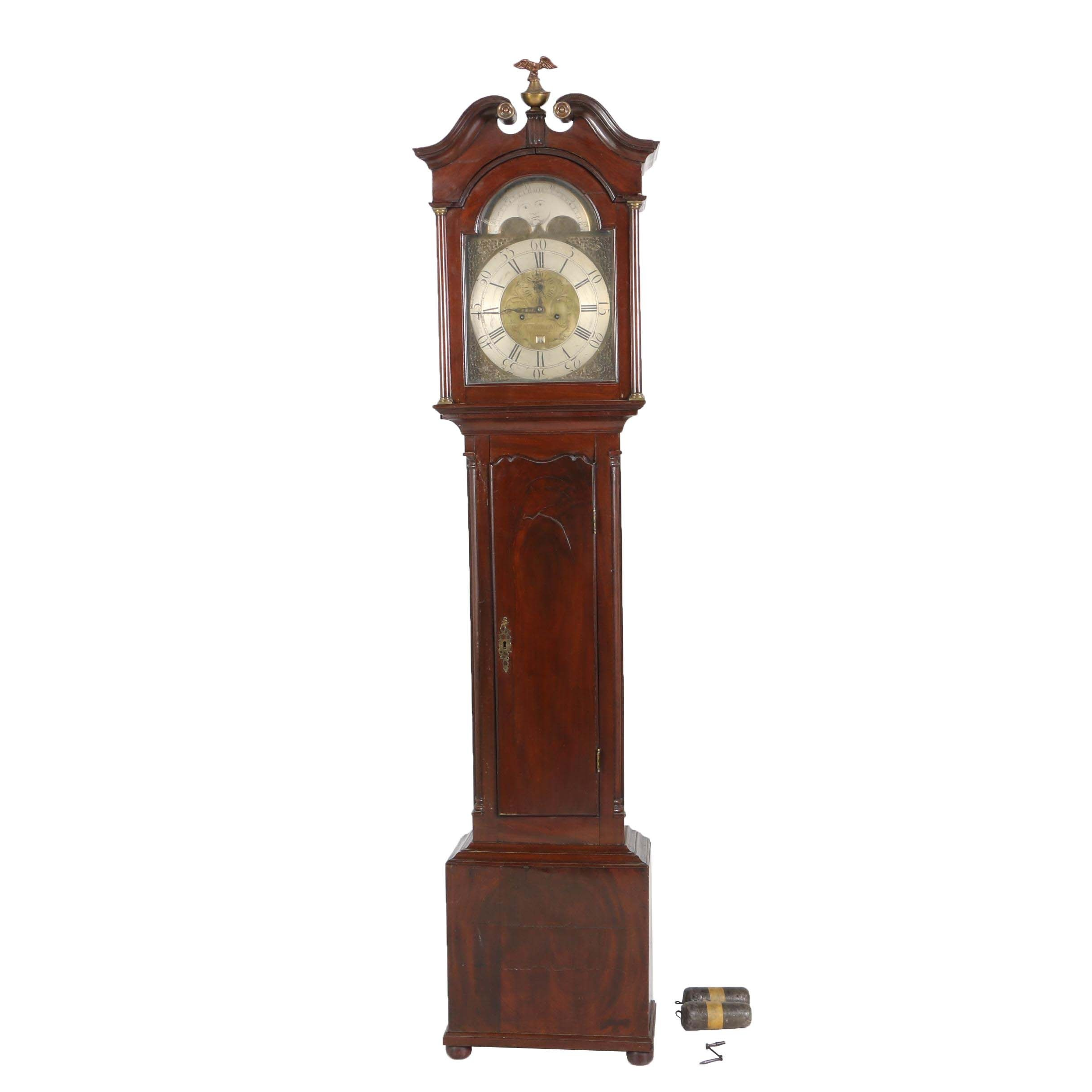 George III Mahogany Tall Case Clock, Robert Townsend, Greenock, Circa 1800