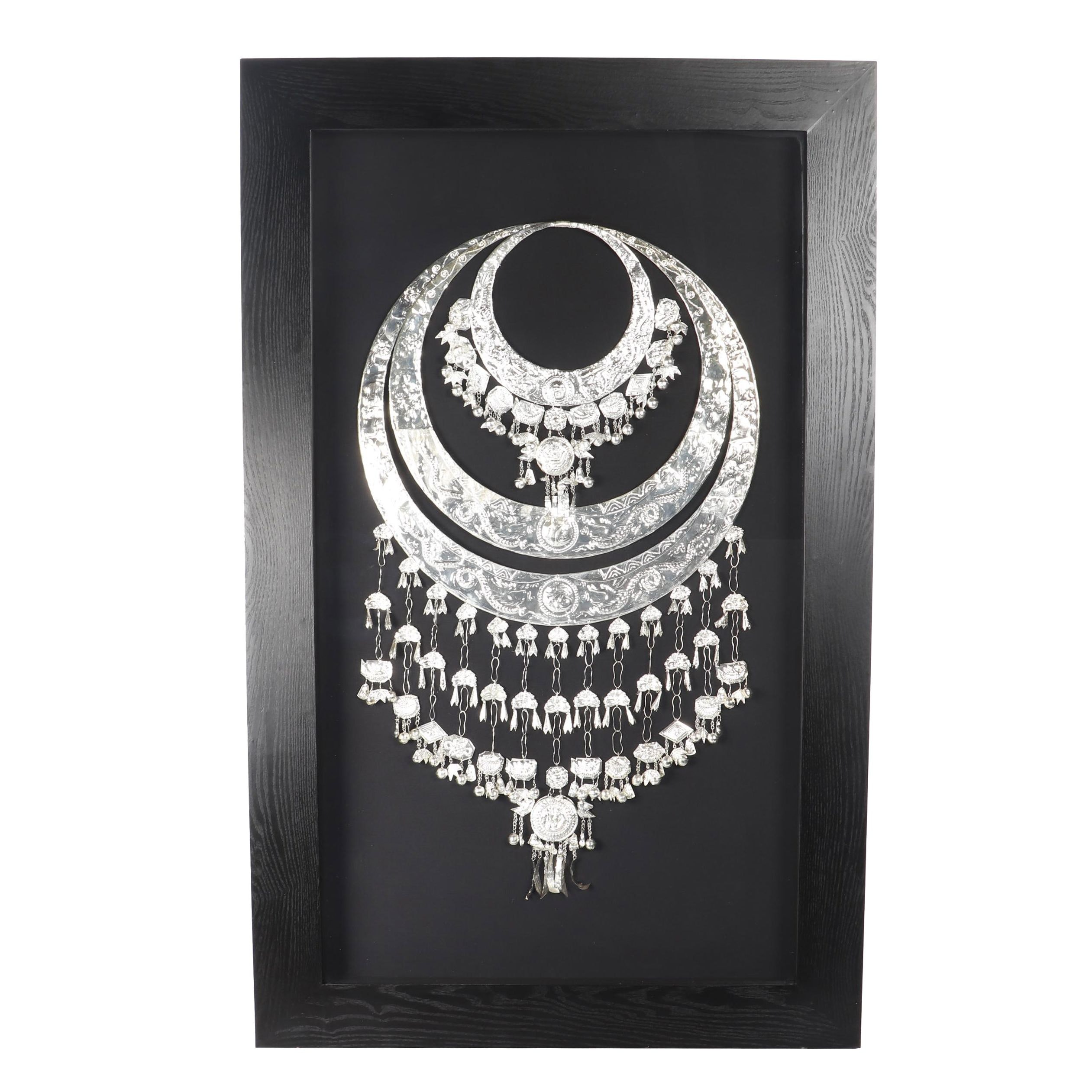 "Z Gallerie ""Ceremonial Silver Necklace"" in Shadowbox Frame"