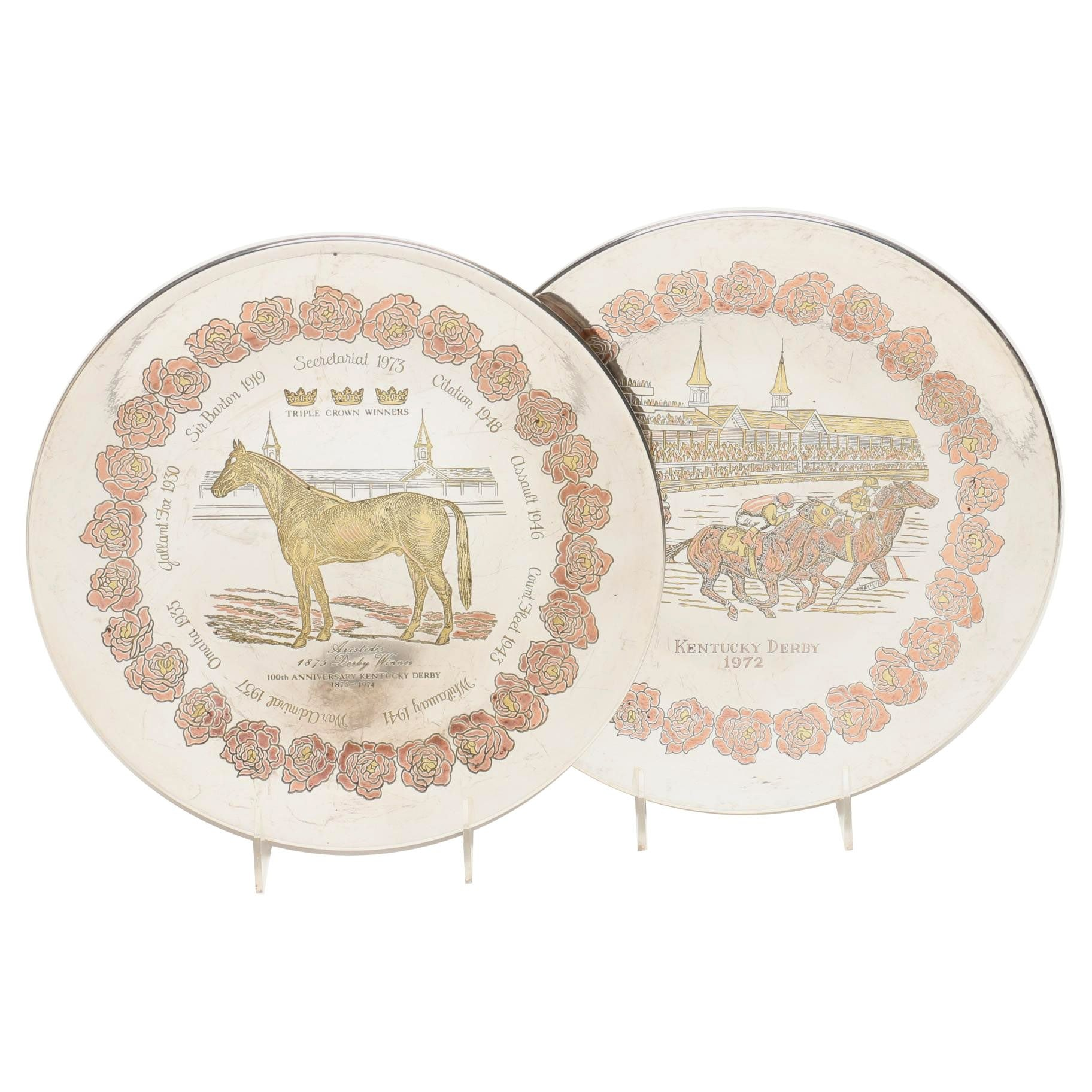 Reed & Barton Limited Edition Kentucky Derby Damascene Plates