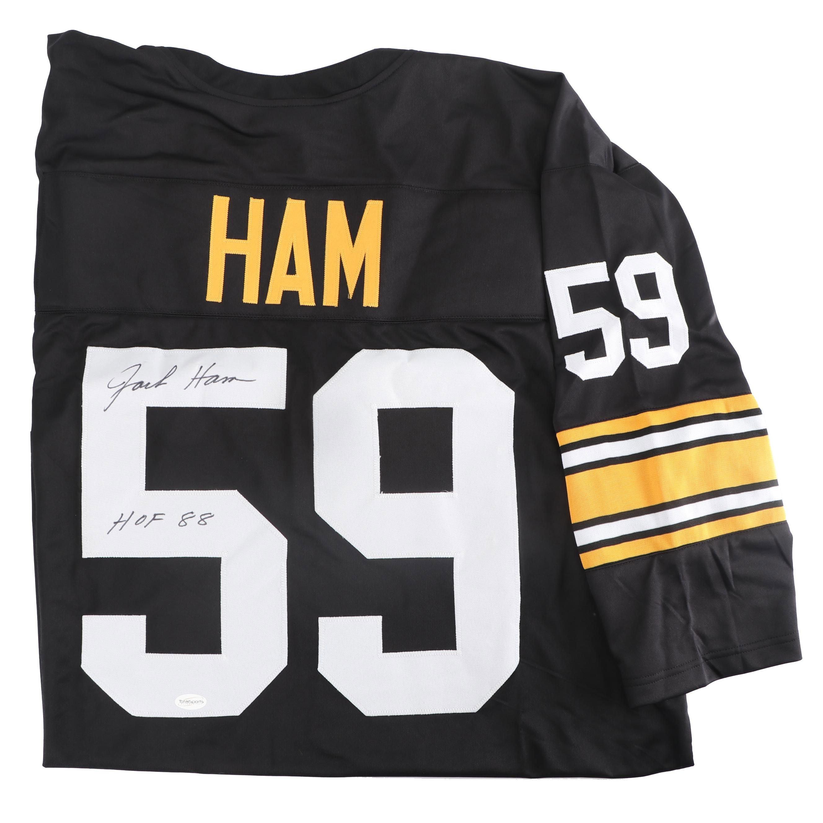 Jack Ham Autographed Pittsburgh Steelers Replica Jersey