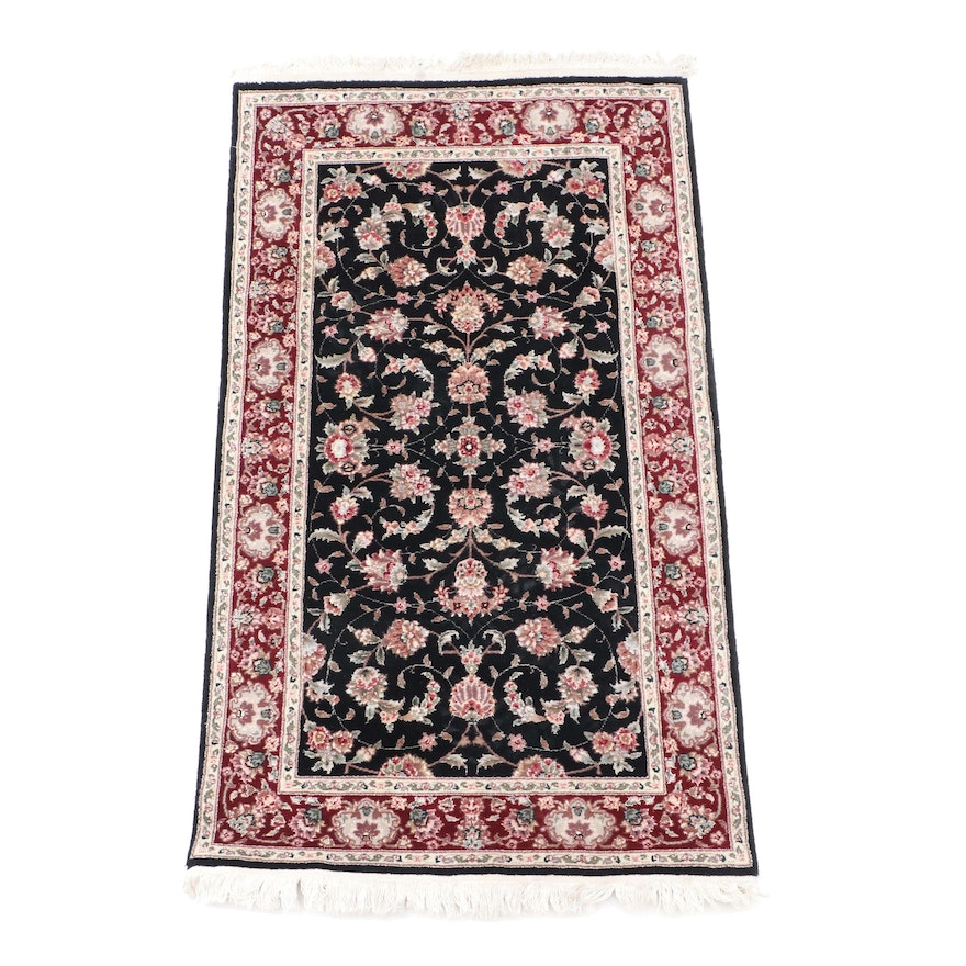 Hand Knotted Chinese Marcella Persian Style Wool And Silk Area Rug
